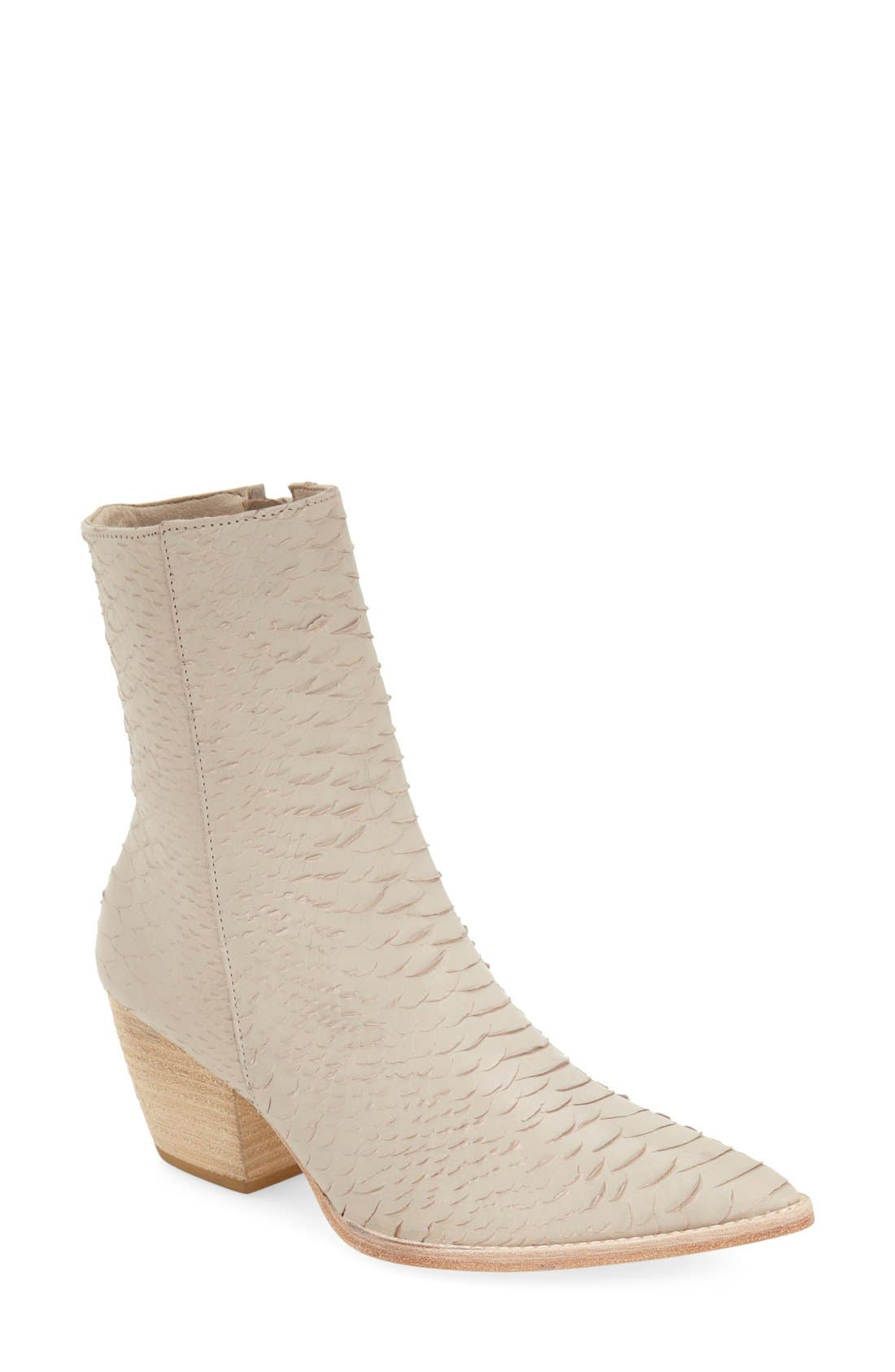 Matisse Caty Western Pointy Toe Bootie- White