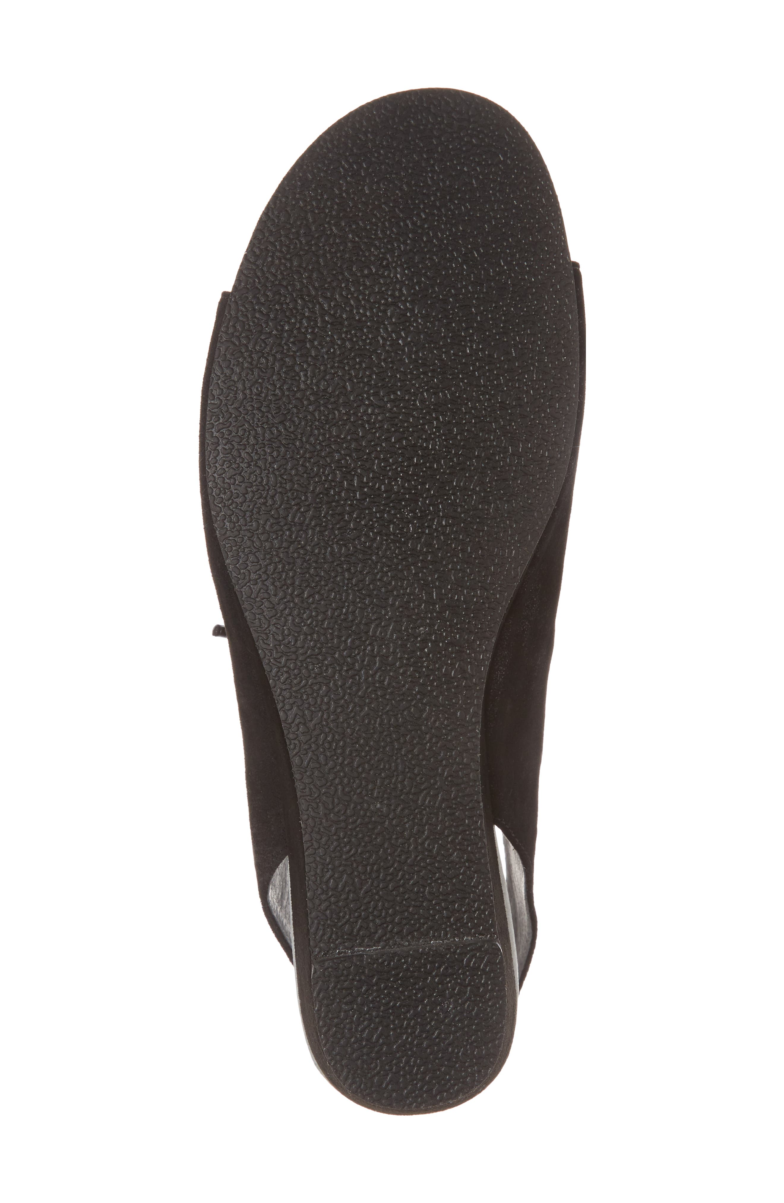 DAVID TATE, Rich Wedge Sandal, Alternate thumbnail 6, color, BLACK SUEDE