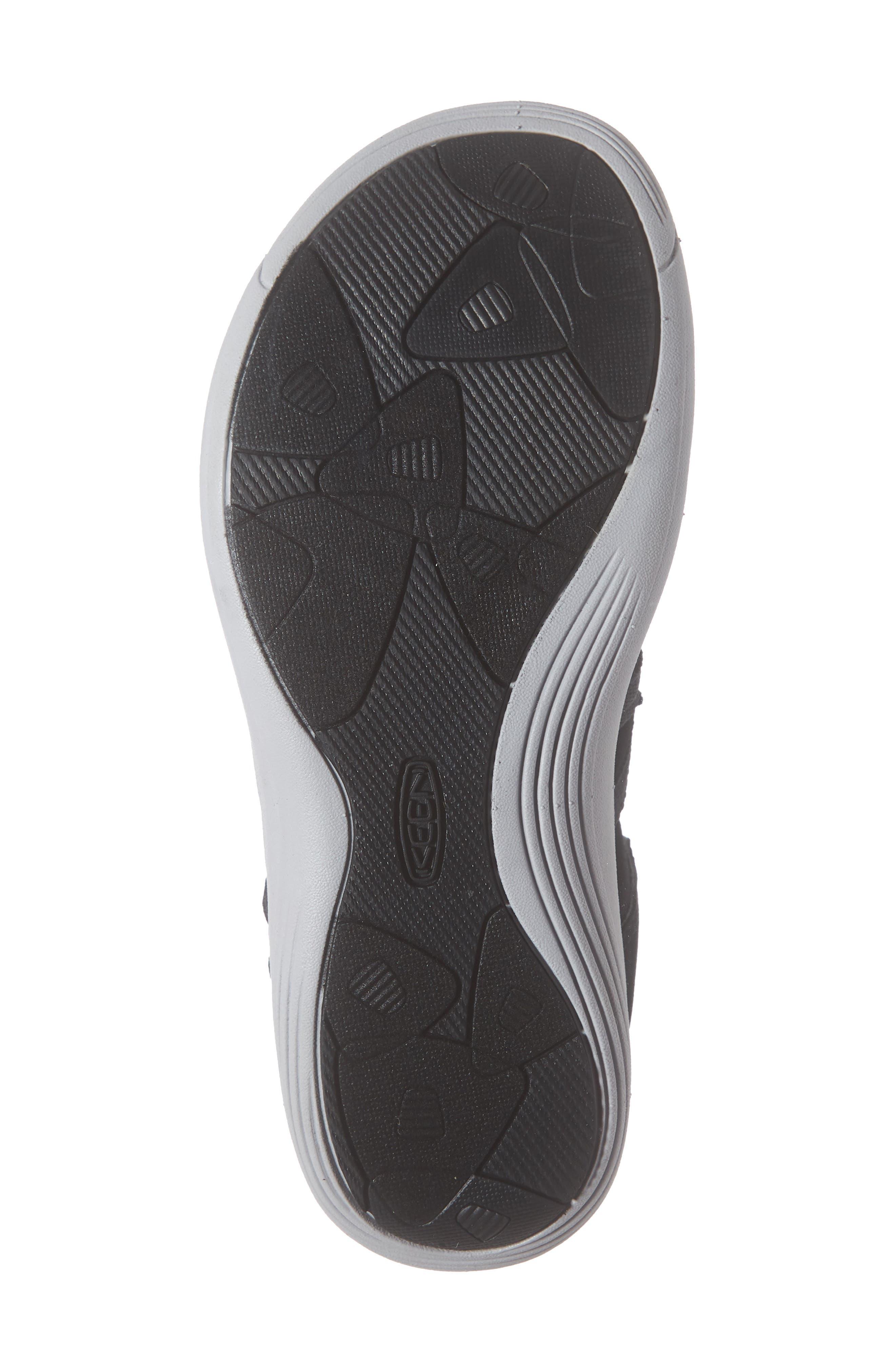 KEEN, Damaya Lattice Sandal, Alternate thumbnail 6, color, BLACK/ VAPOR FABRIC