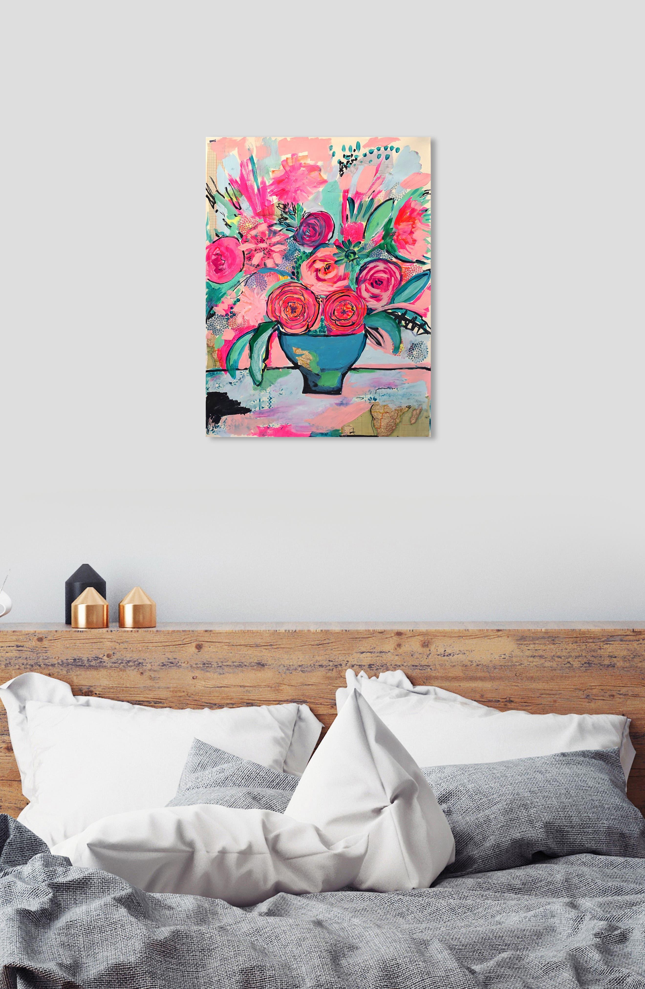 OLIVER GAL, Viva La Vida Canvas Wall Art, Alternate thumbnail 6, color, PINK
