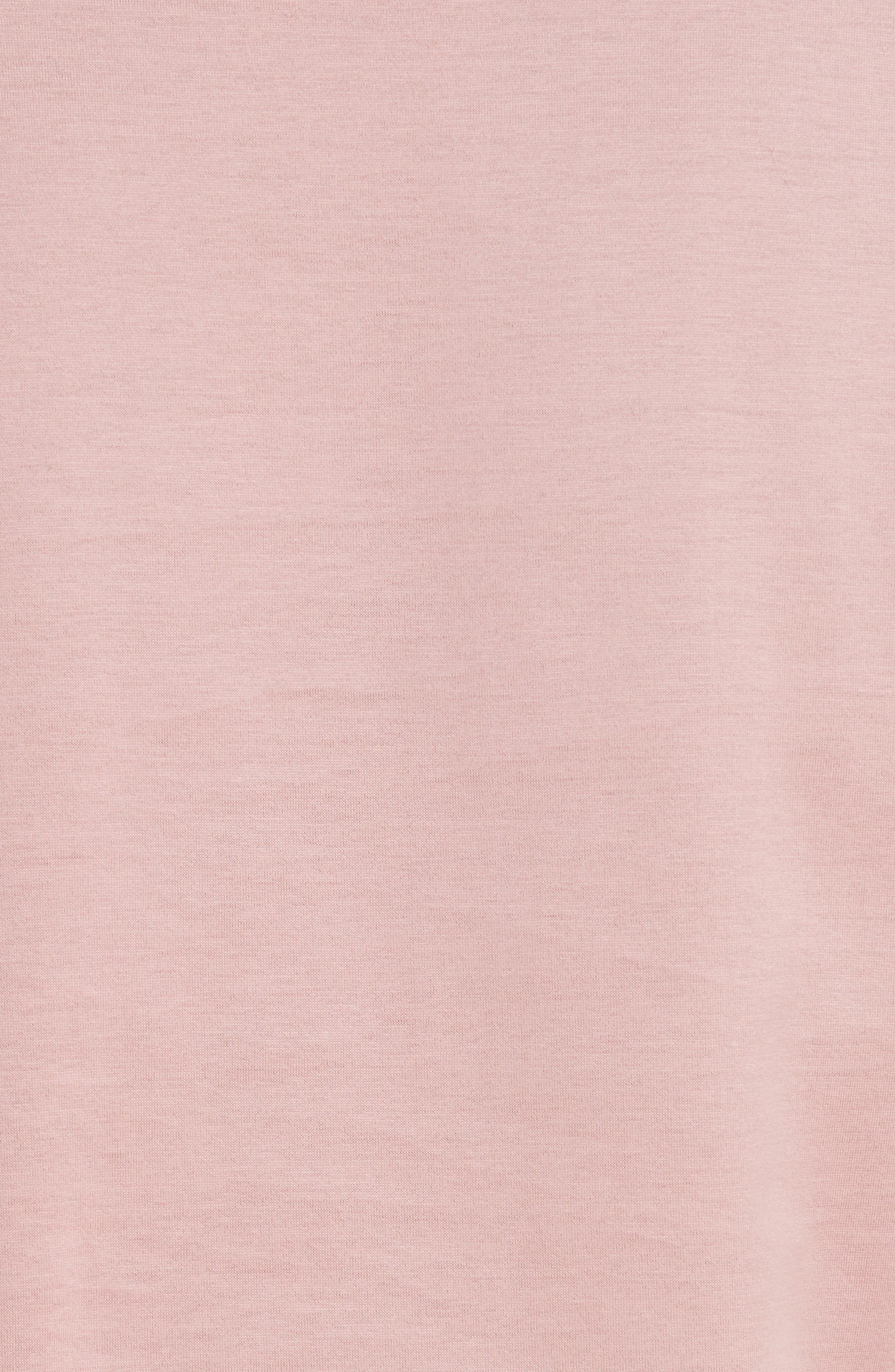 MONCLER, Cotton Tee, Alternate thumbnail 5, color, BLUSH
