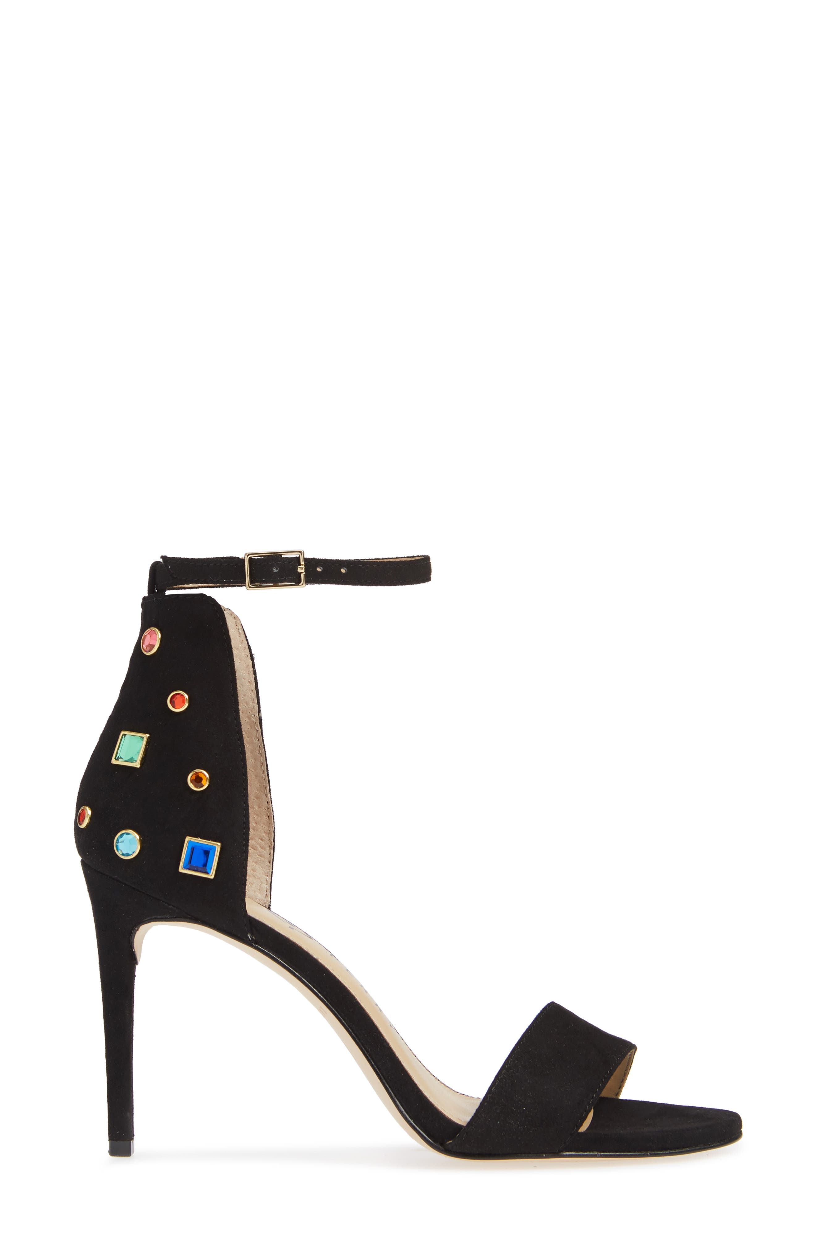 KATY PERRY, Jewel Ankle Strap Sandal, Alternate thumbnail 3, color, 001