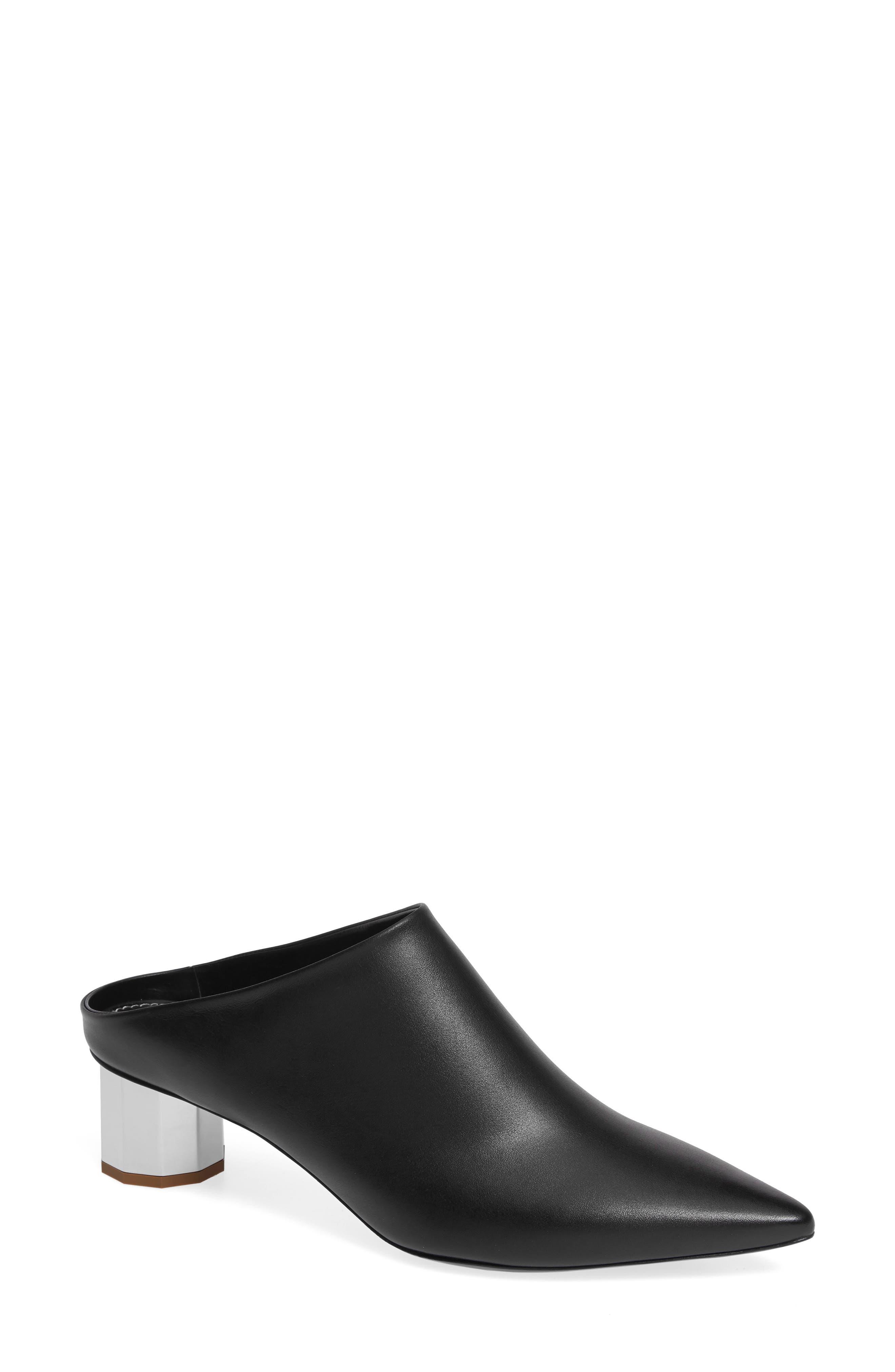 PROENZA SCHOULER Pointy Toe Mule, Main, color, BLACK