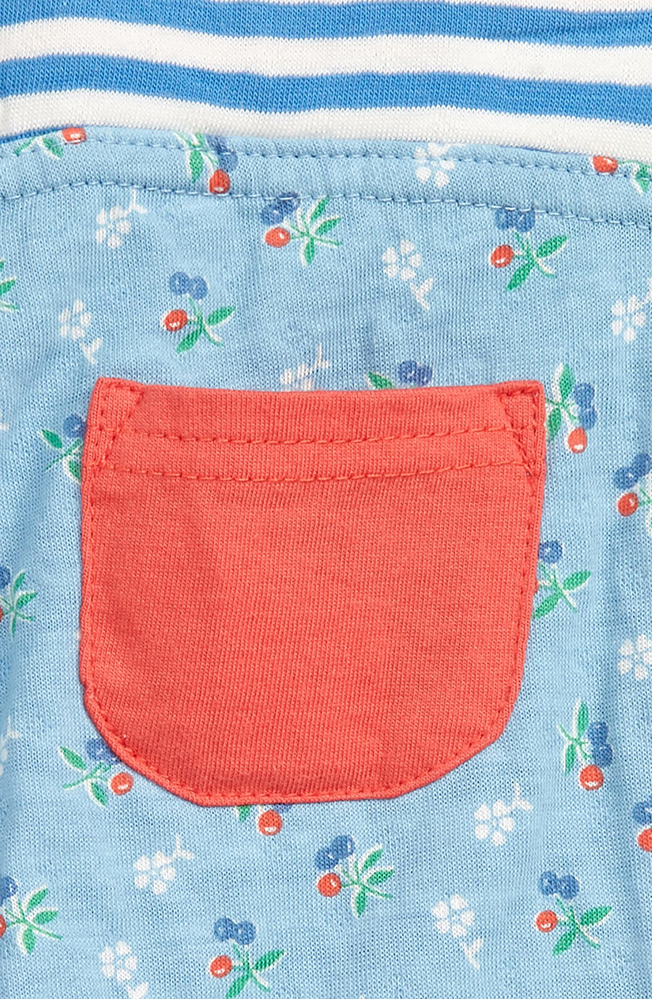 MINI BODEN, Mixed Print Cozy Knit Pants, Alternate thumbnail 3, color, LIGHT SKY BLUE VNTG CHERRY