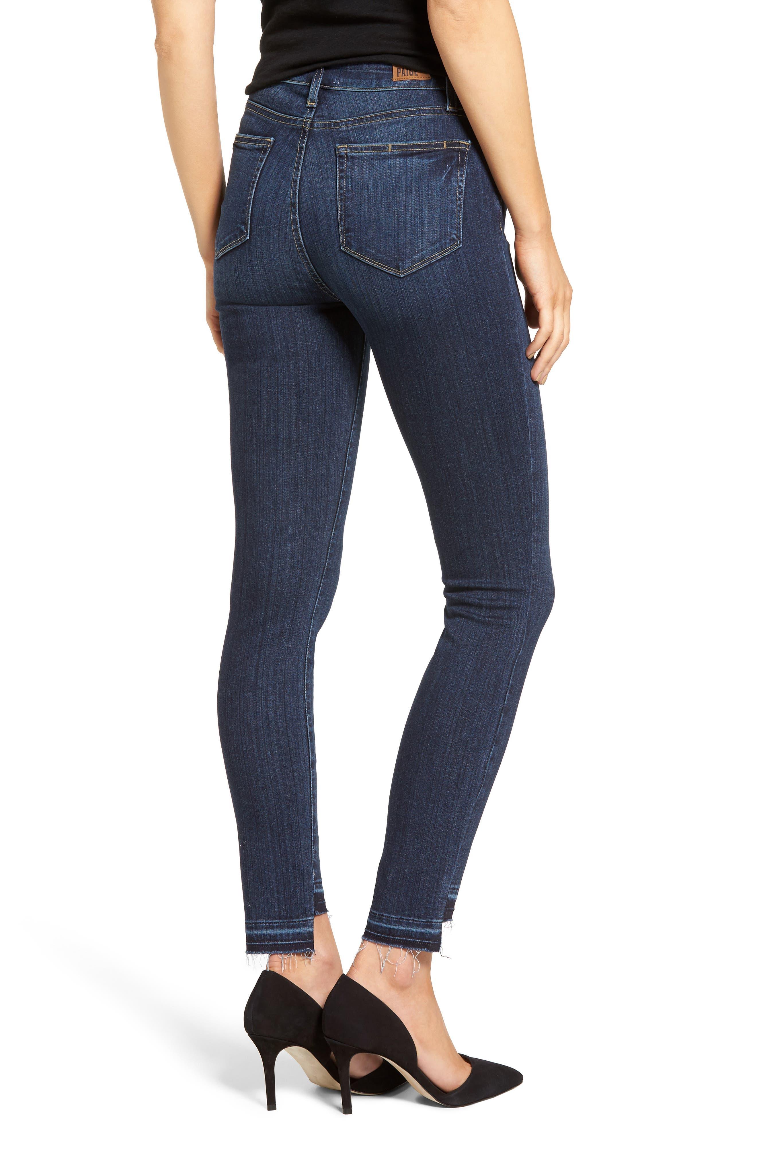 PAIGE, Hoxton High Waist Skinny Jeans, Alternate thumbnail 2, color, 400