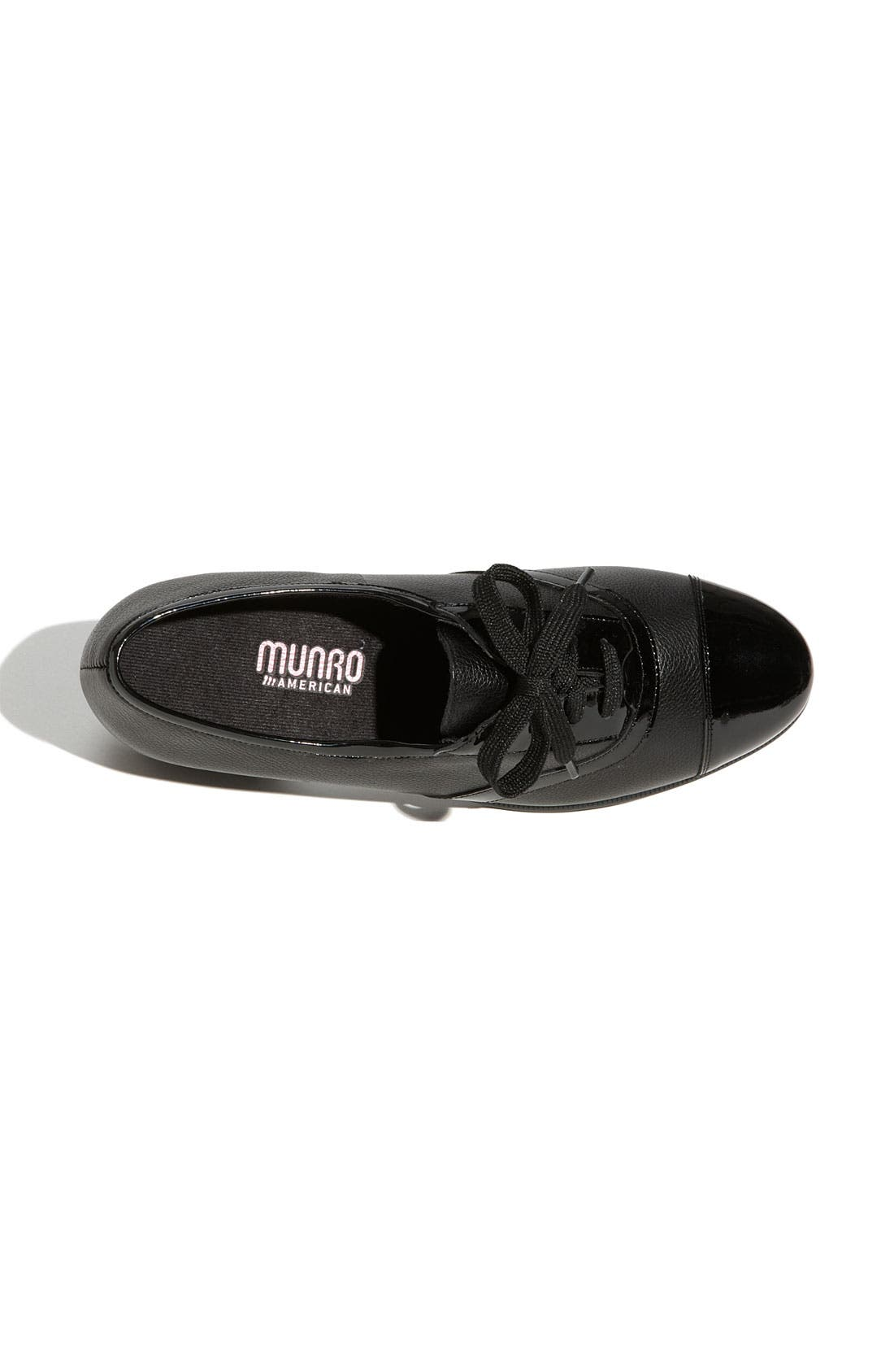 MUNRO, 'Ascot' Lace-Up, Alternate thumbnail 4, color, 001