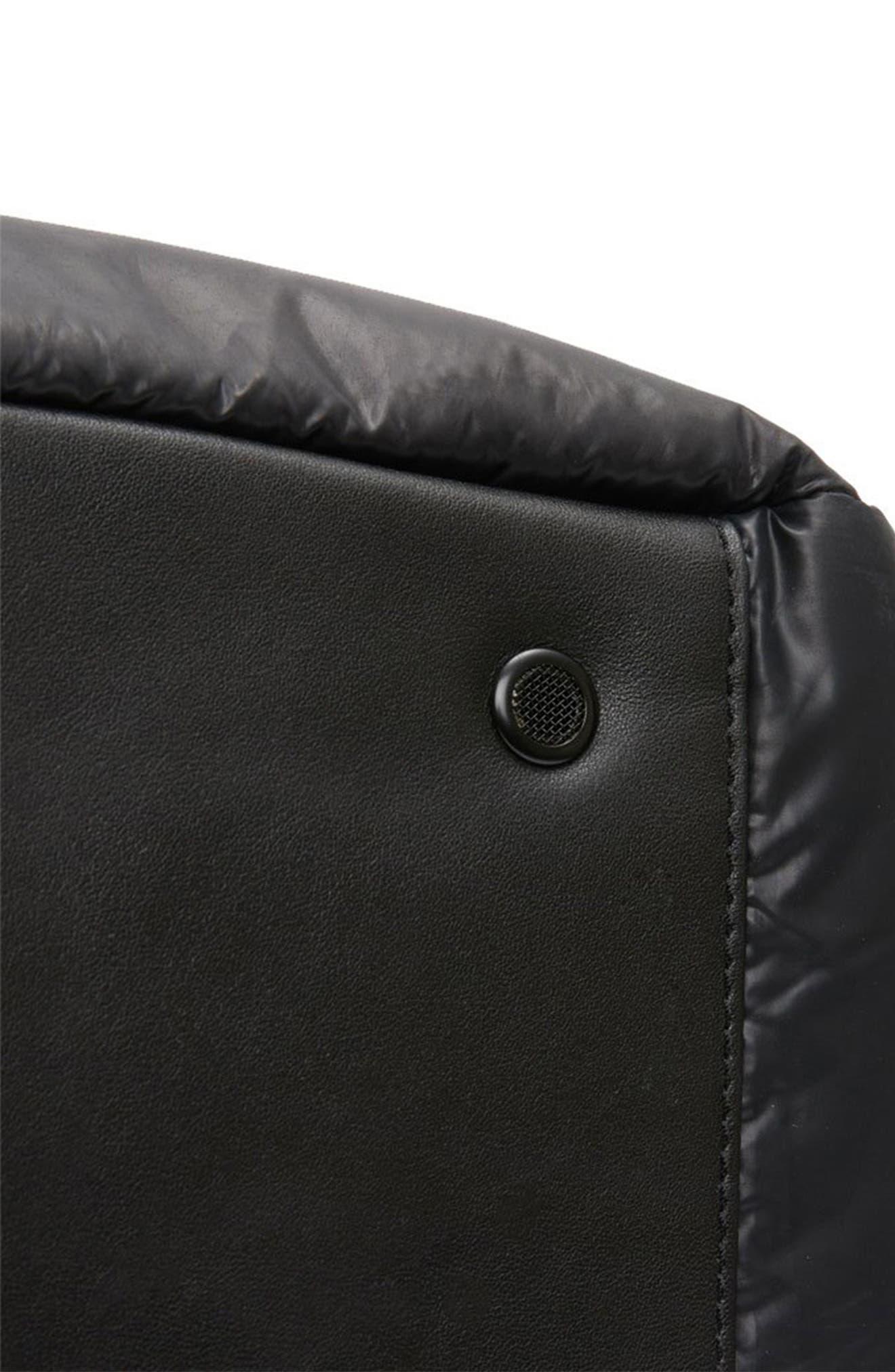CARAA, Stratus Waterproof Backpack, Alternate thumbnail 12, color, BLACK