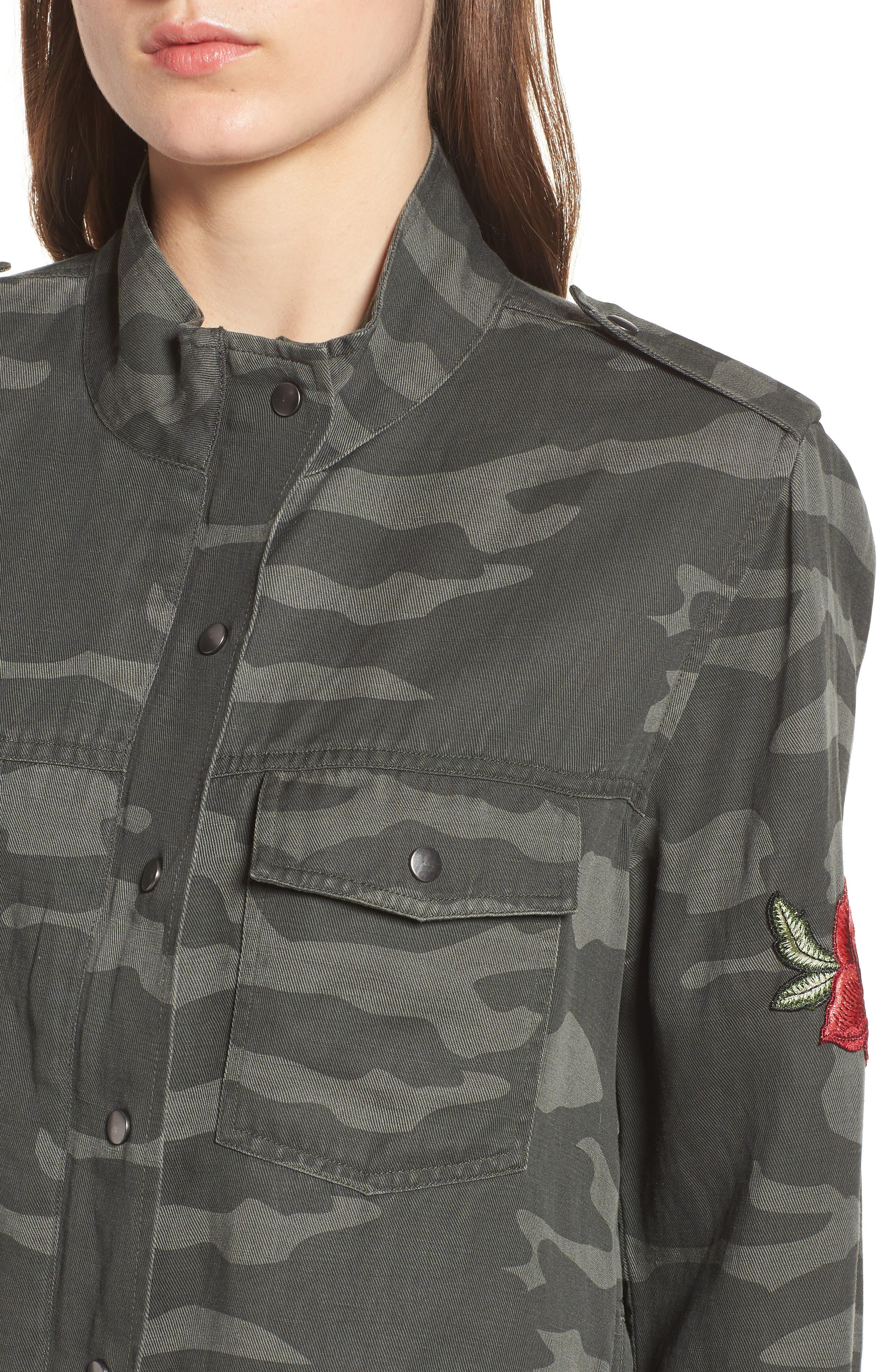 RAILS, Collins Military Jacket, Alternate thumbnail 4, color, 346