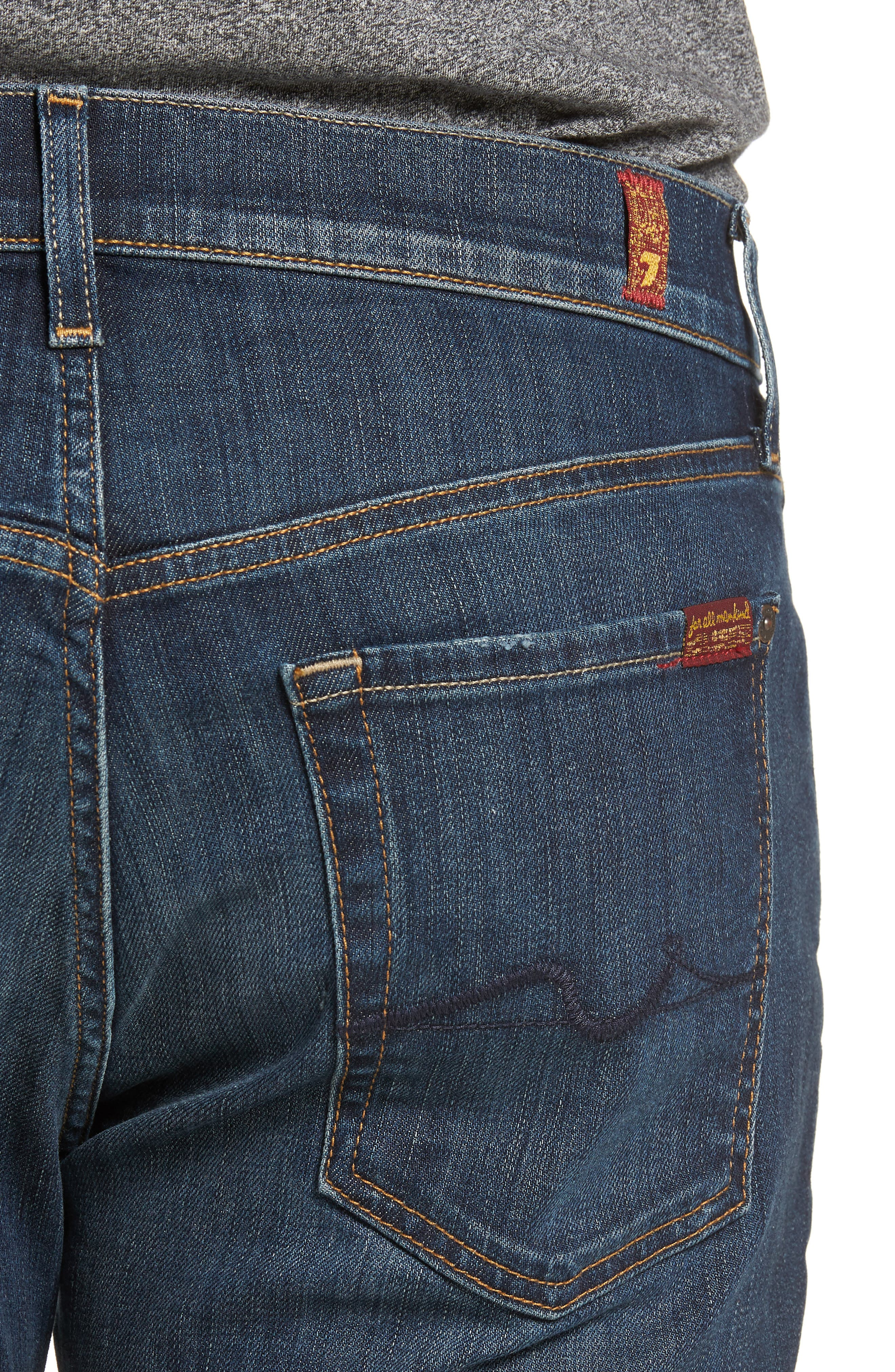 7 FOR ALL MANKIND<SUP>®</SUP>, Luxe Performance Standard Straight Leg Jeans, Alternate thumbnail 5, color, LUXE PERFORMANCE YELM