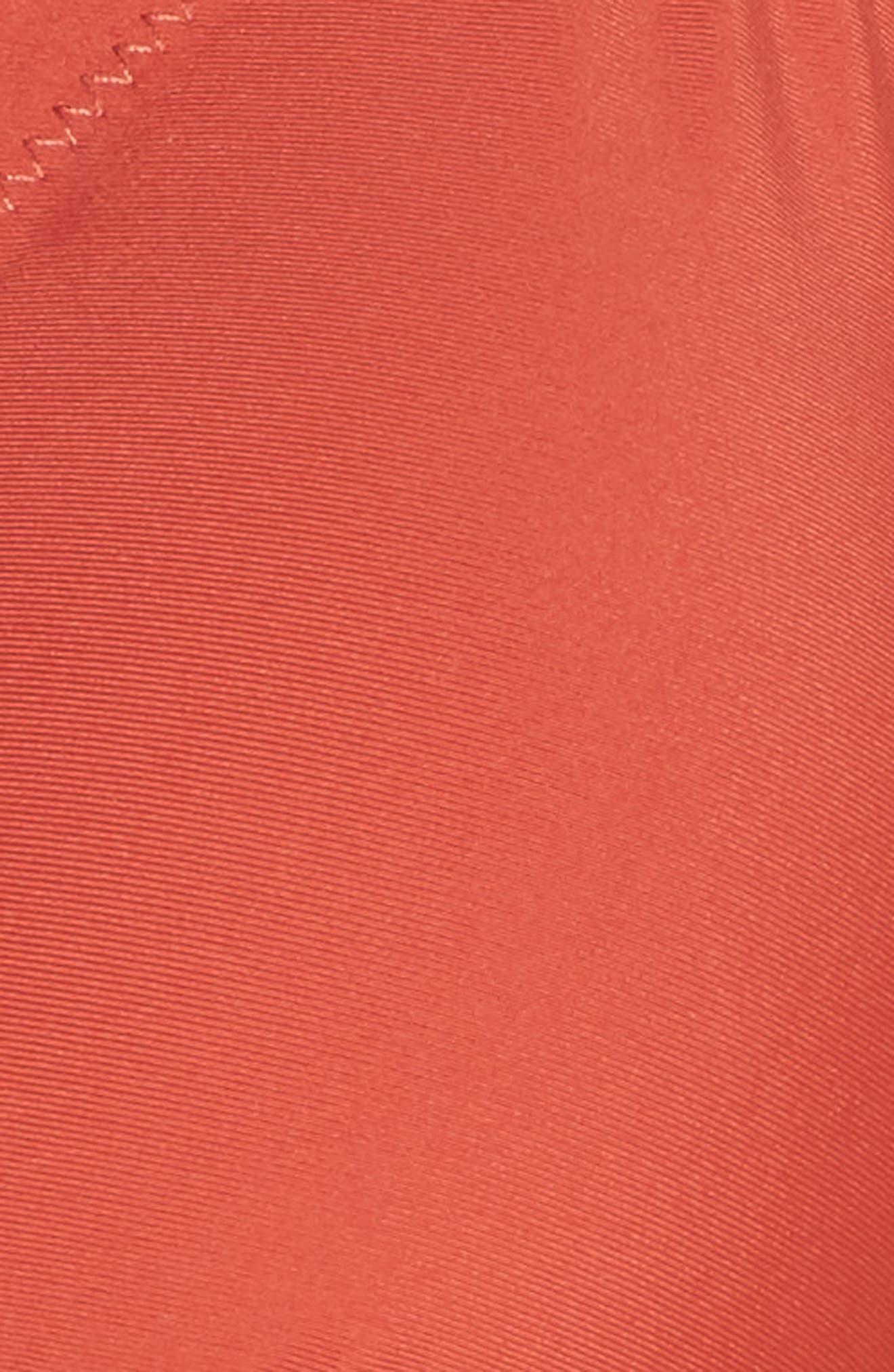 CHELSEA28, Scallop Triangle Bikini Top, Alternate thumbnail 6, color, RUST SPICE