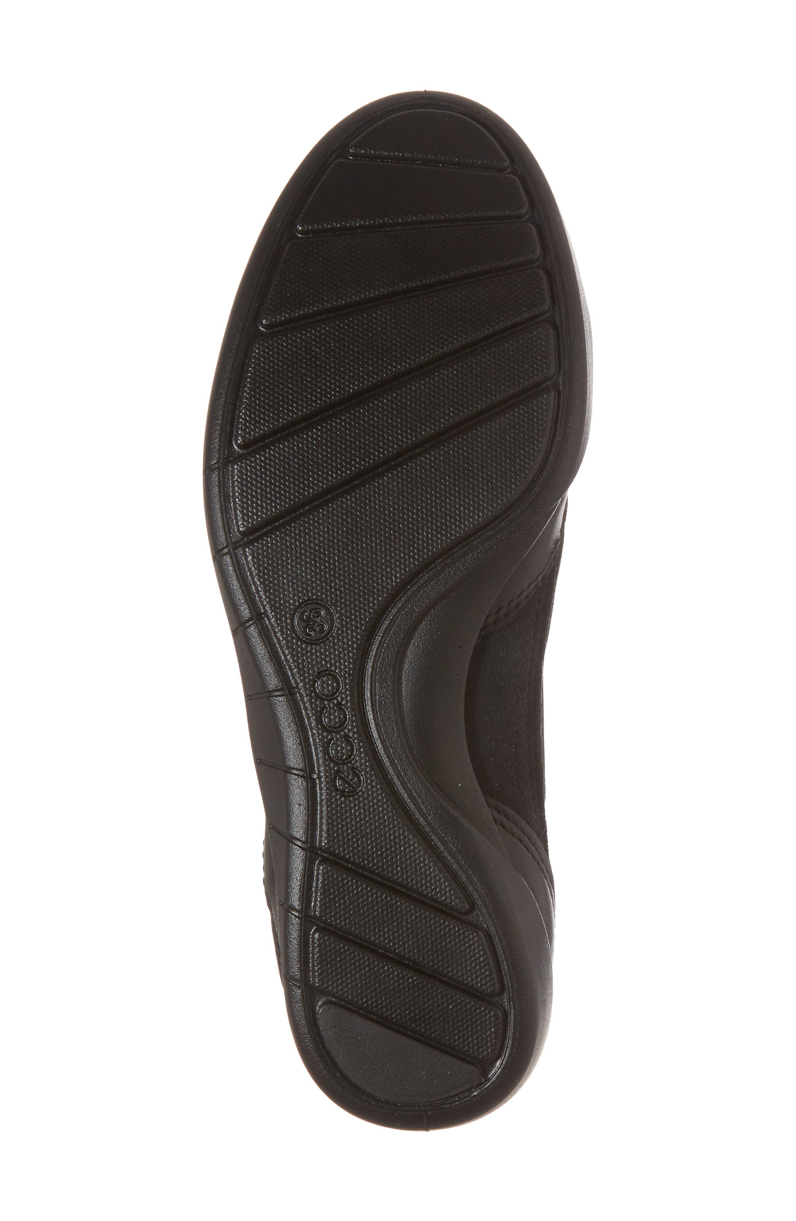 ECCO, 'Bluma' Ballet Sneaker, Alternate thumbnail 6, color, BLACK LEATHER