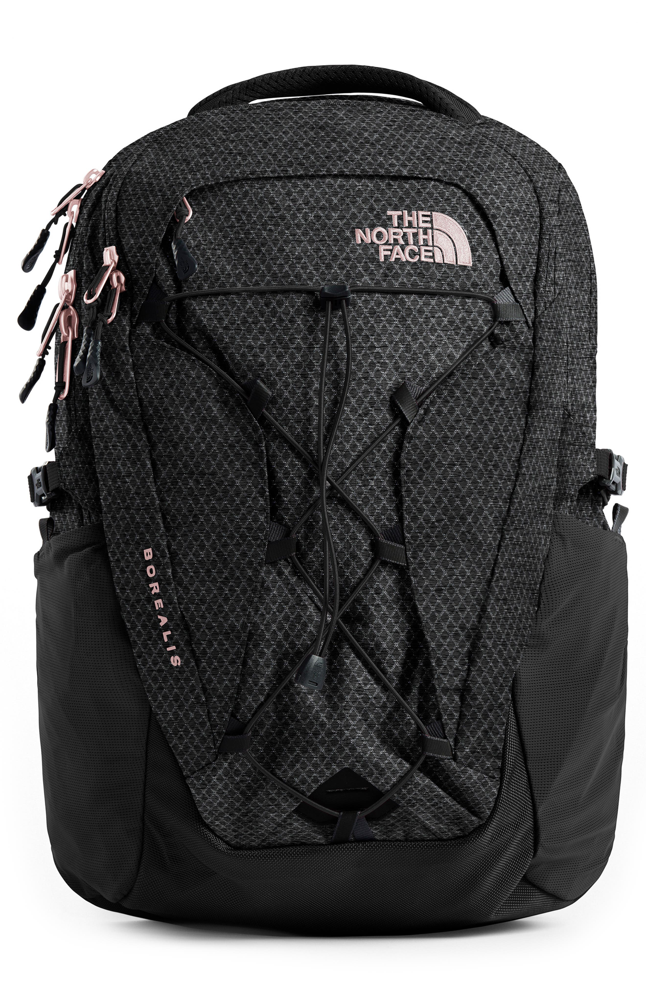 THE NORTH FACE Borealis Backpack, Main, color, TNF BLACK/ BURNT CORAL