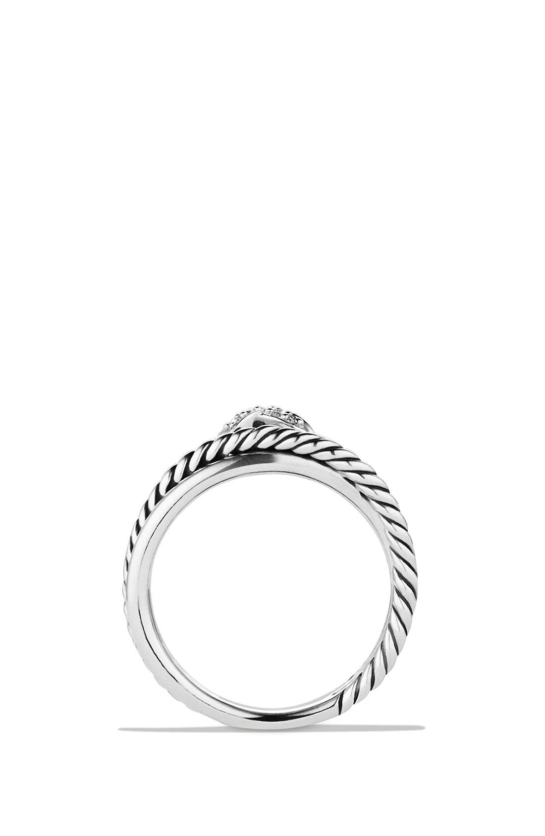 DAVID YURMAN, 'X Crossover' Ring with Diamonds, Alternate thumbnail 7, color, DIAMOND