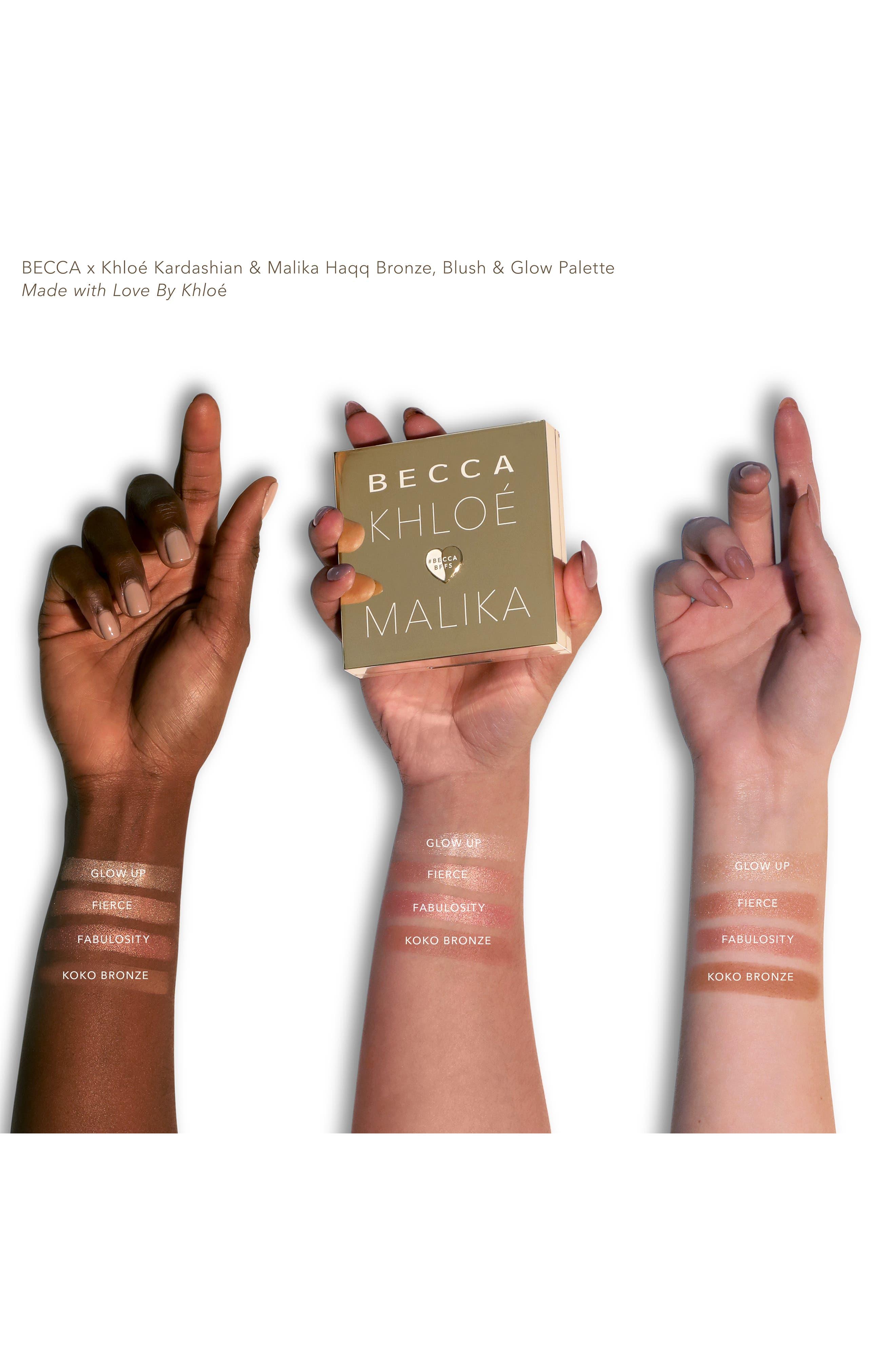 BECCA COSMETICS, BECCA x Khloé Kardashian & Malika Haqq Bronze, Blush & Glow Palette, Alternate thumbnail 2, color, KHLOE