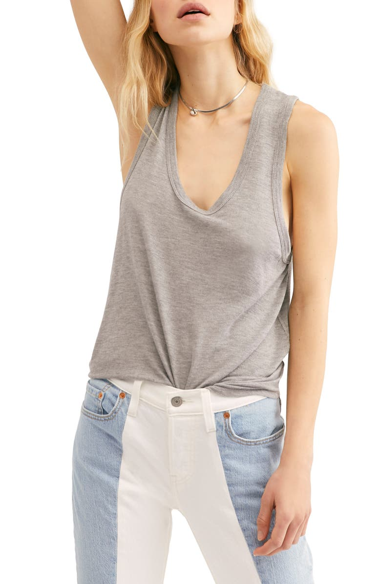 Free People Tops TAKE THE PLUNGE TANK TOP