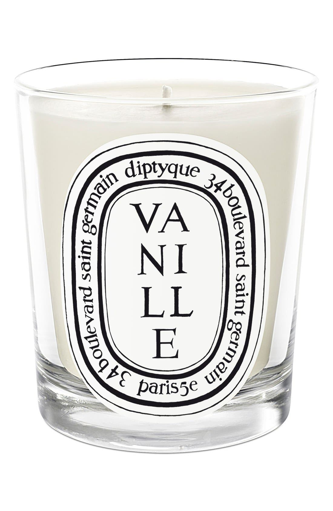 DIPTYQUE, Vanille Scented Candle, Main thumbnail 1, color, NO COLOR