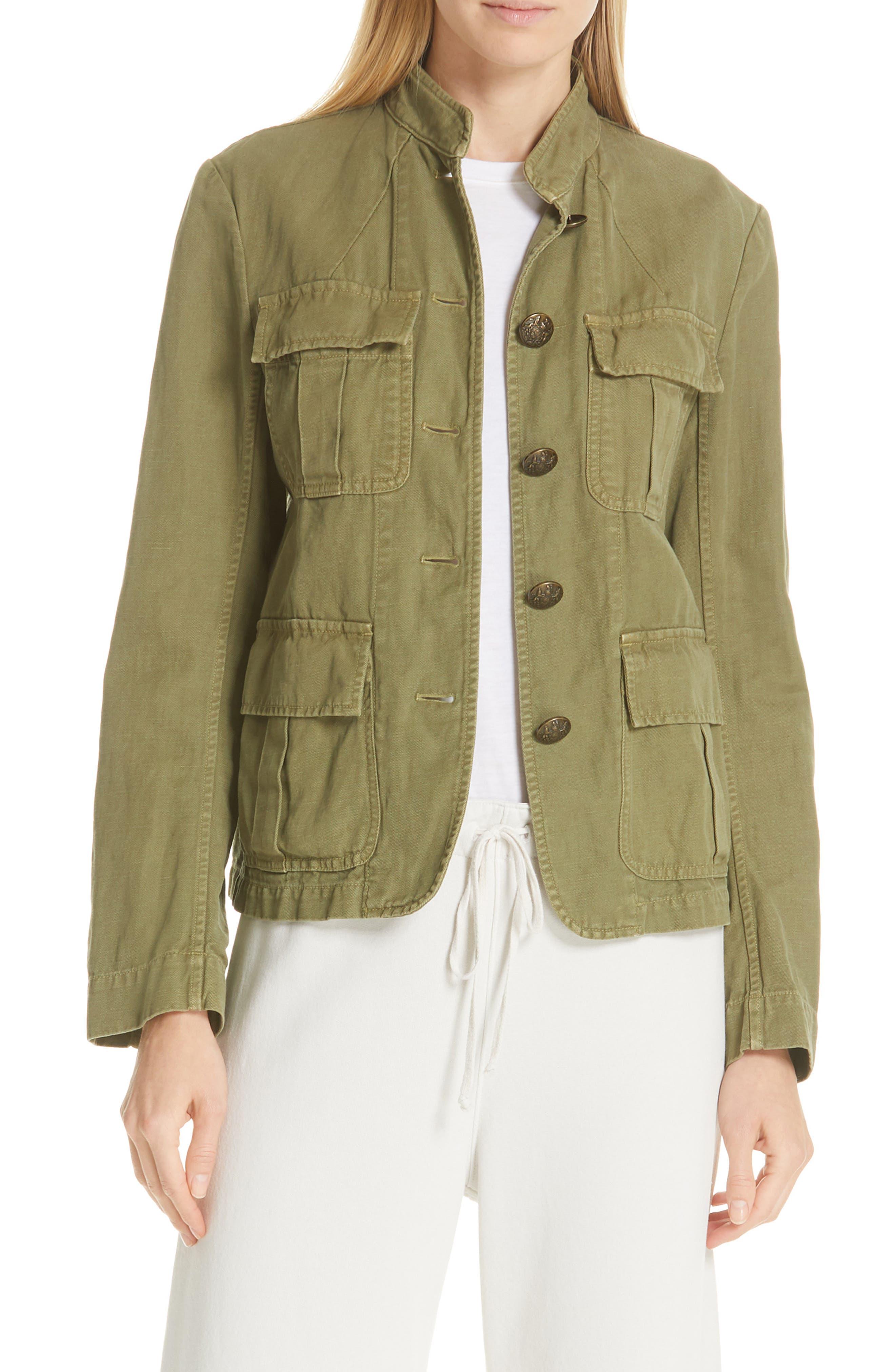 NILI LOTAN Cambre Jacket, Main, color, UNIFORM GREEN