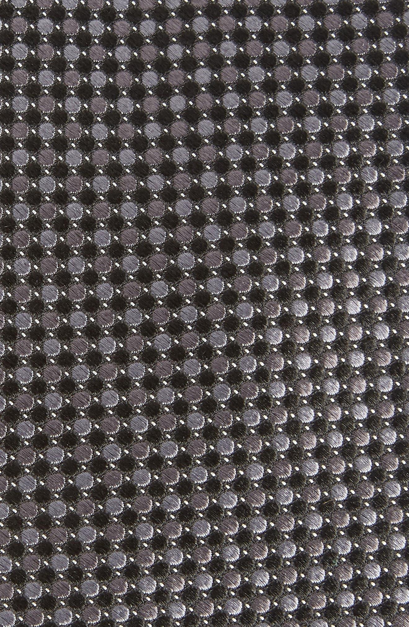 NORDSTROM MEN'S SHOP, Morris Micro Silk Tie, Alternate thumbnail 2, color, BLACK