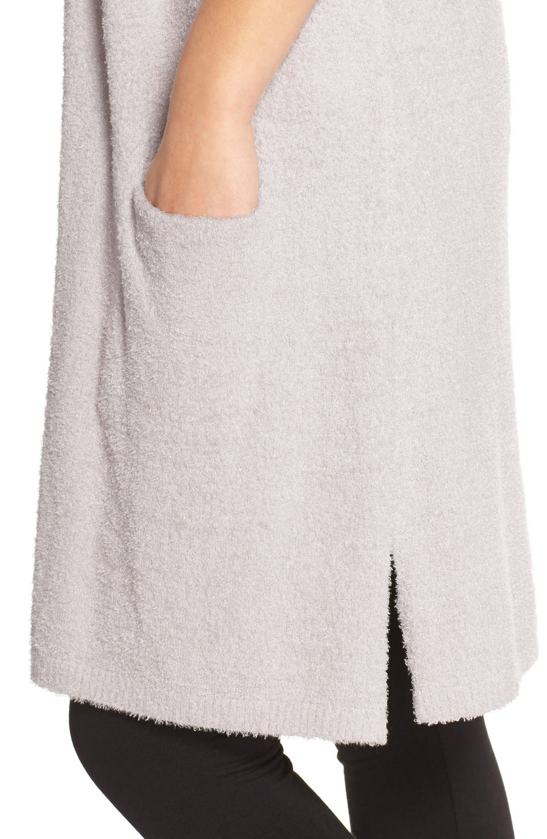 BAREFOOT DREAMS<SUP>®</SUP>, CozyChic Lite<sup>®</sup> Long Essential Cardigan, Alternate thumbnail 4, color, 020