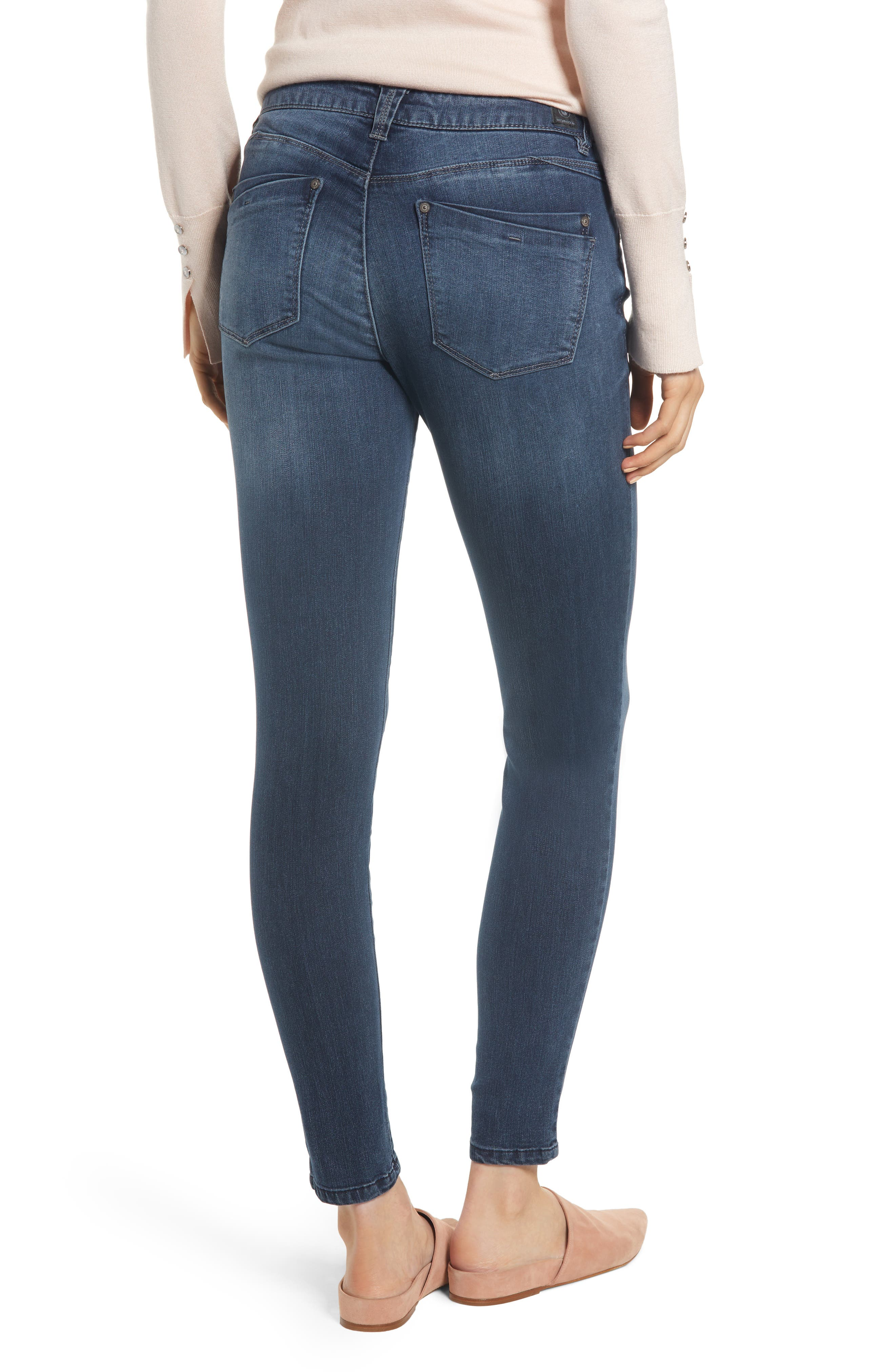 WIT & WISDOM, Contemporary Skinny Jeans, Alternate thumbnail 3, color, 402