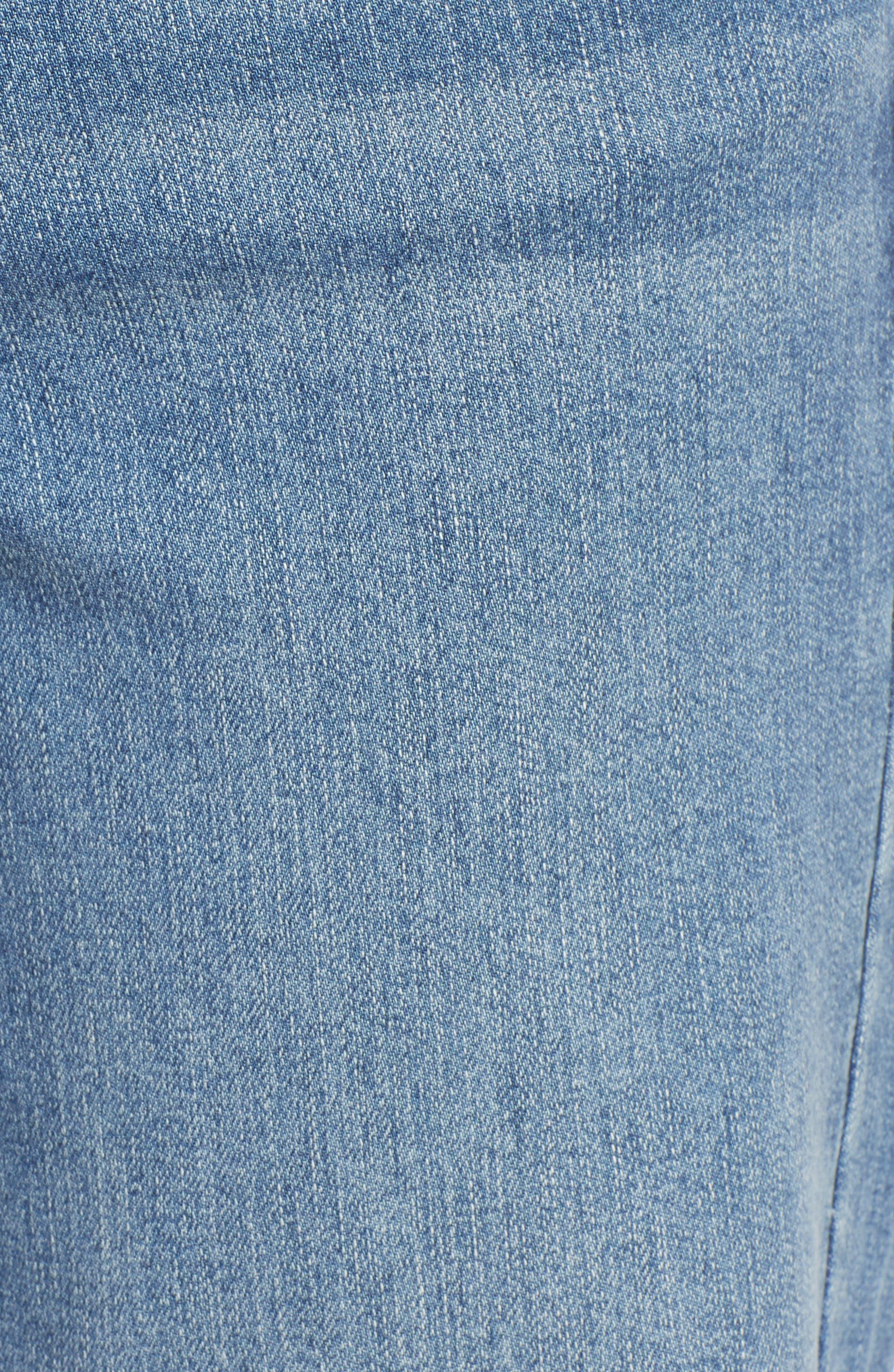 PROSPERITY DENIM, Belted Crop Wide Leg Jeans, Alternate thumbnail 6, color, PRETTY WASH