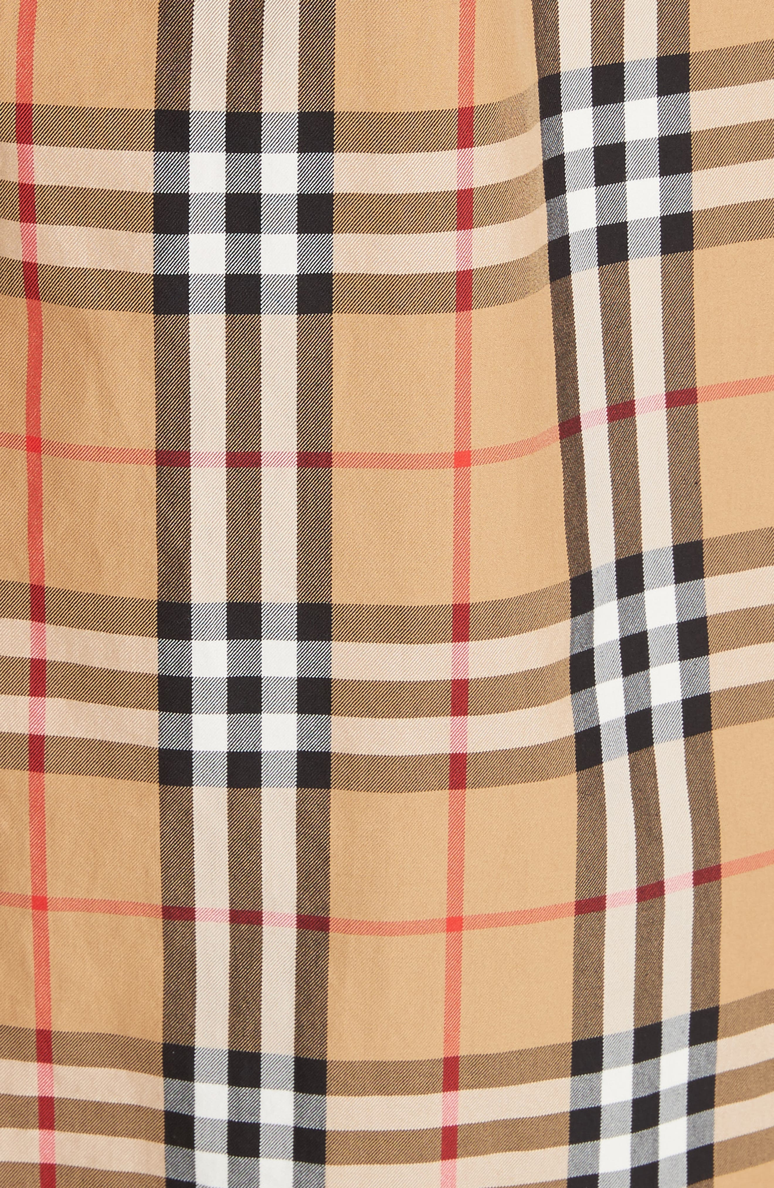 BURBERRY, Eastheath Vintage Check Trench Coat, Alternate thumbnail 7, color, ANTIQUE YELLOW