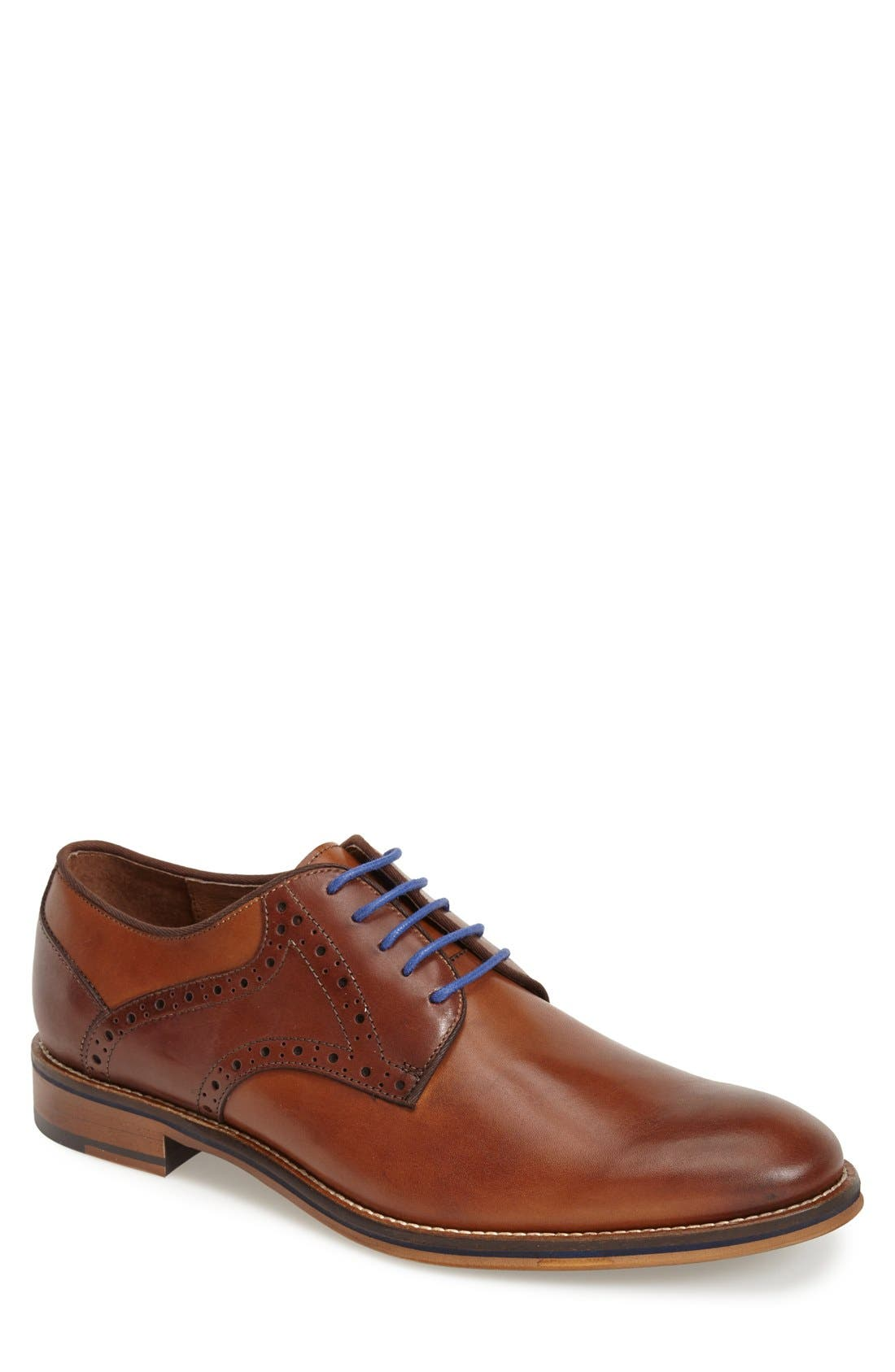 JOHNSTON & MURPHY Conard Saddle Shoe, Main, color, TAN/ DARK BROWN