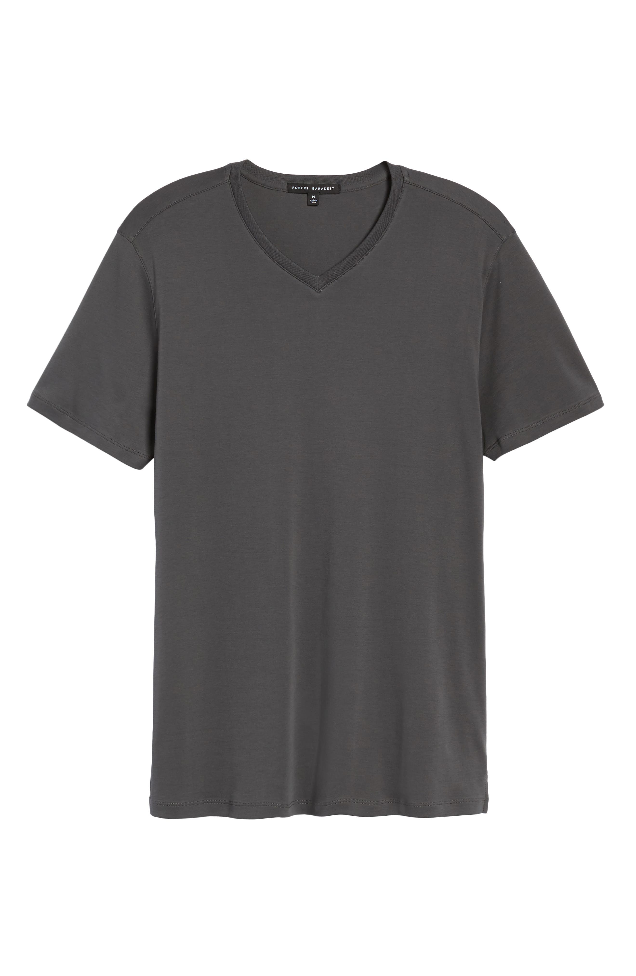 ROBERT BARAKETT, Georgia Regular Fit V-Neck T-Shirt, Alternate thumbnail 6, color, IRON