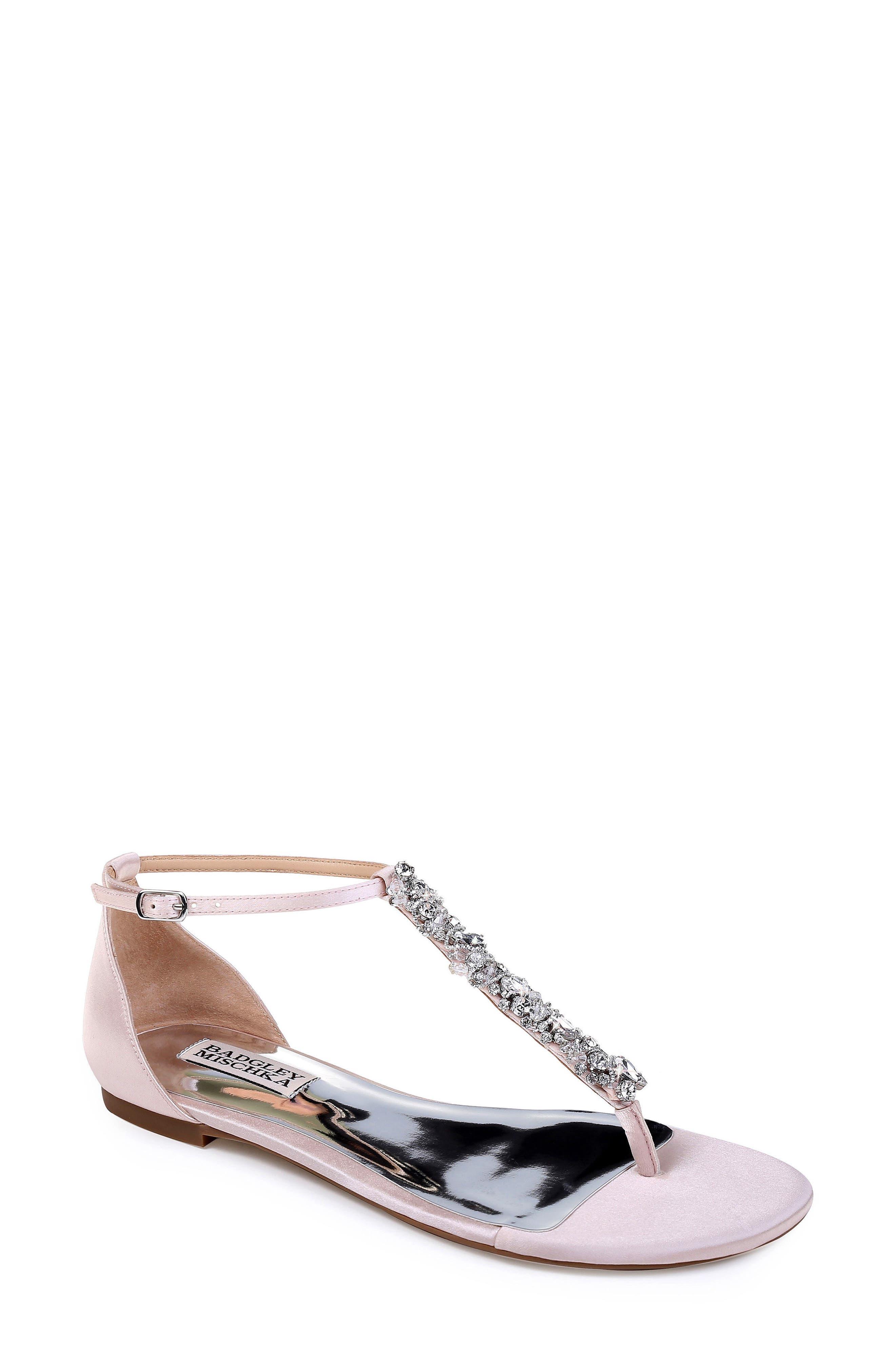 Badgley Mischka Holbrook T-Strap Sandal- Pink