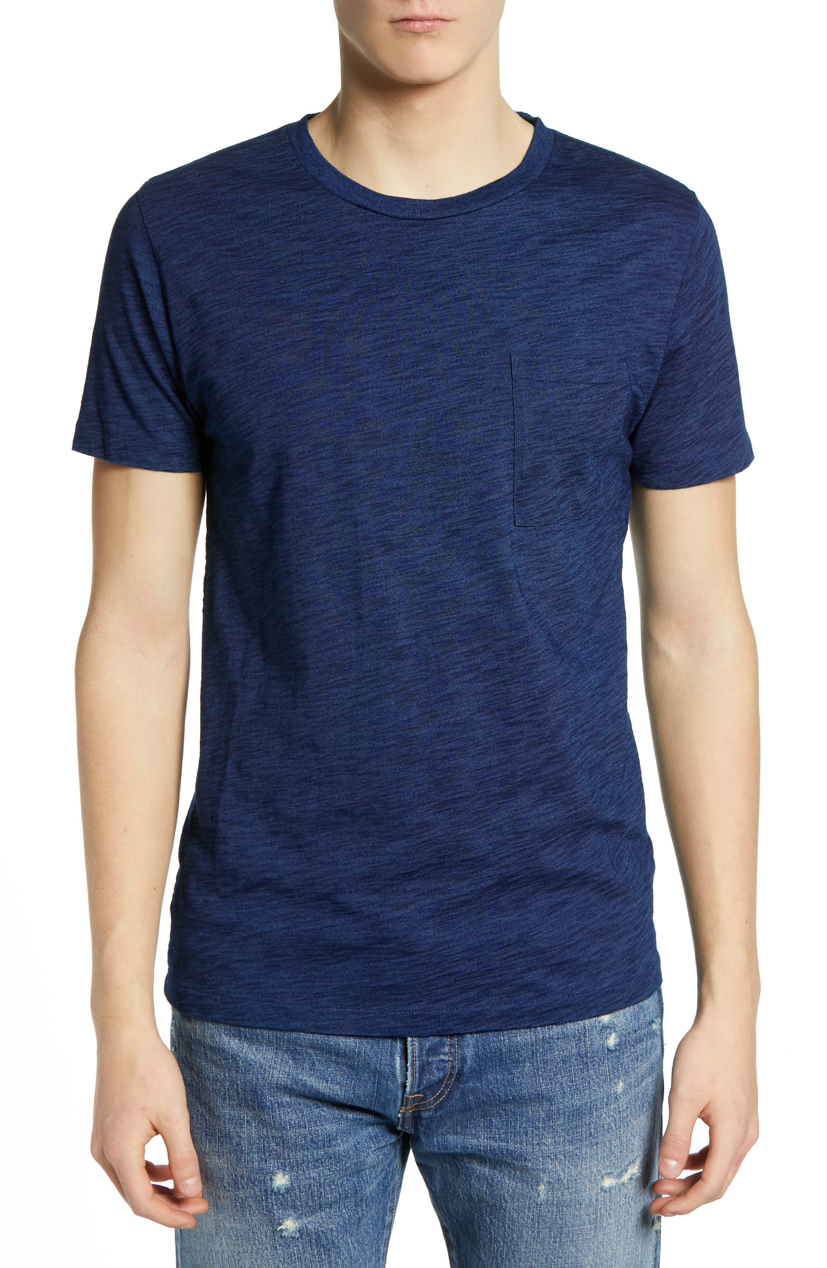 LEVI'S<SUP>®</SUP> MADE & CRAFTED<SUP>™</SUP>, Pocket T-Shirt, Main thumbnail 1, color, WASHED BLUE INDIGO