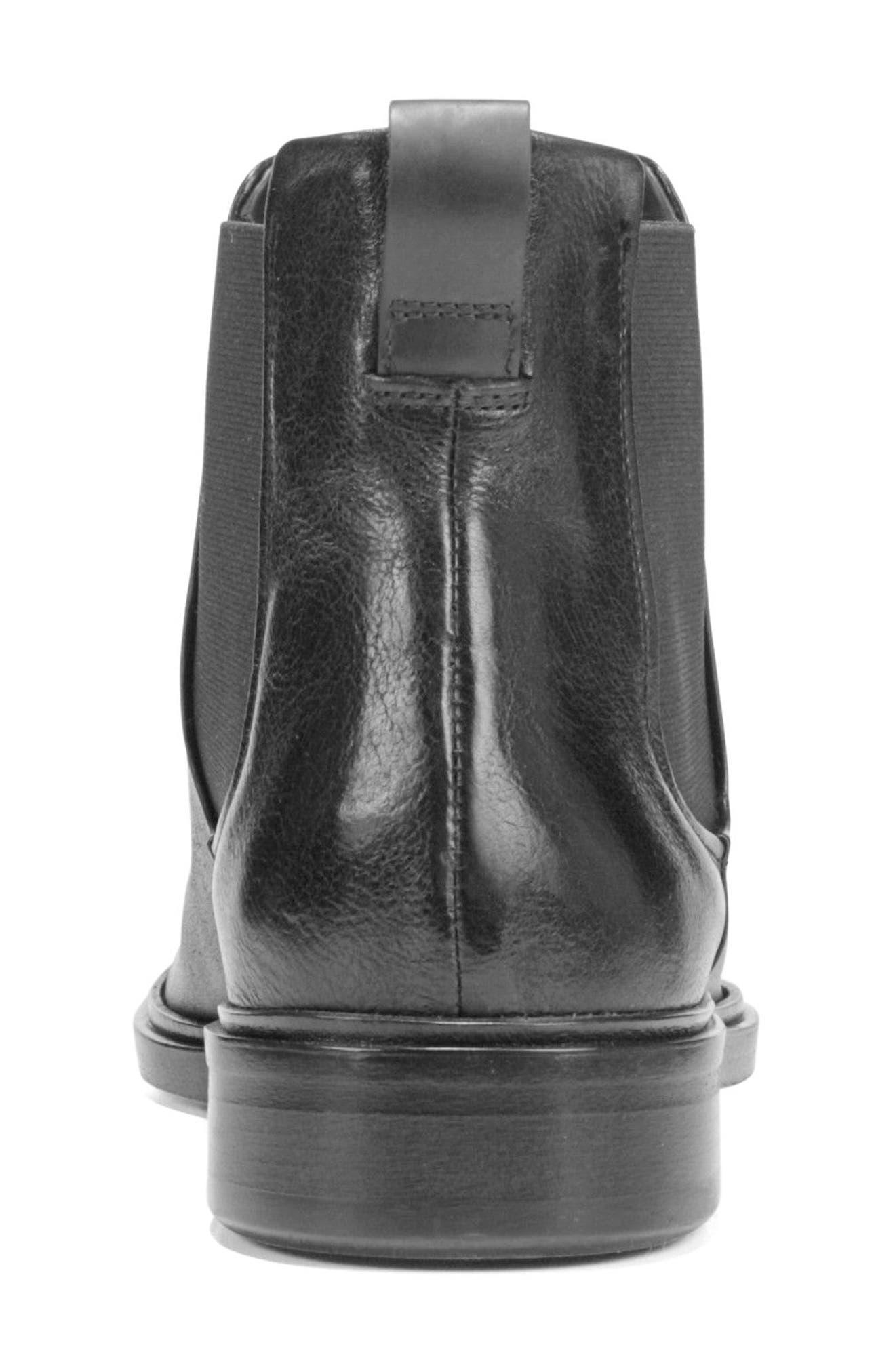 VINCE, Burroughs Chelsea Boot, Alternate thumbnail 8, color, BLACK