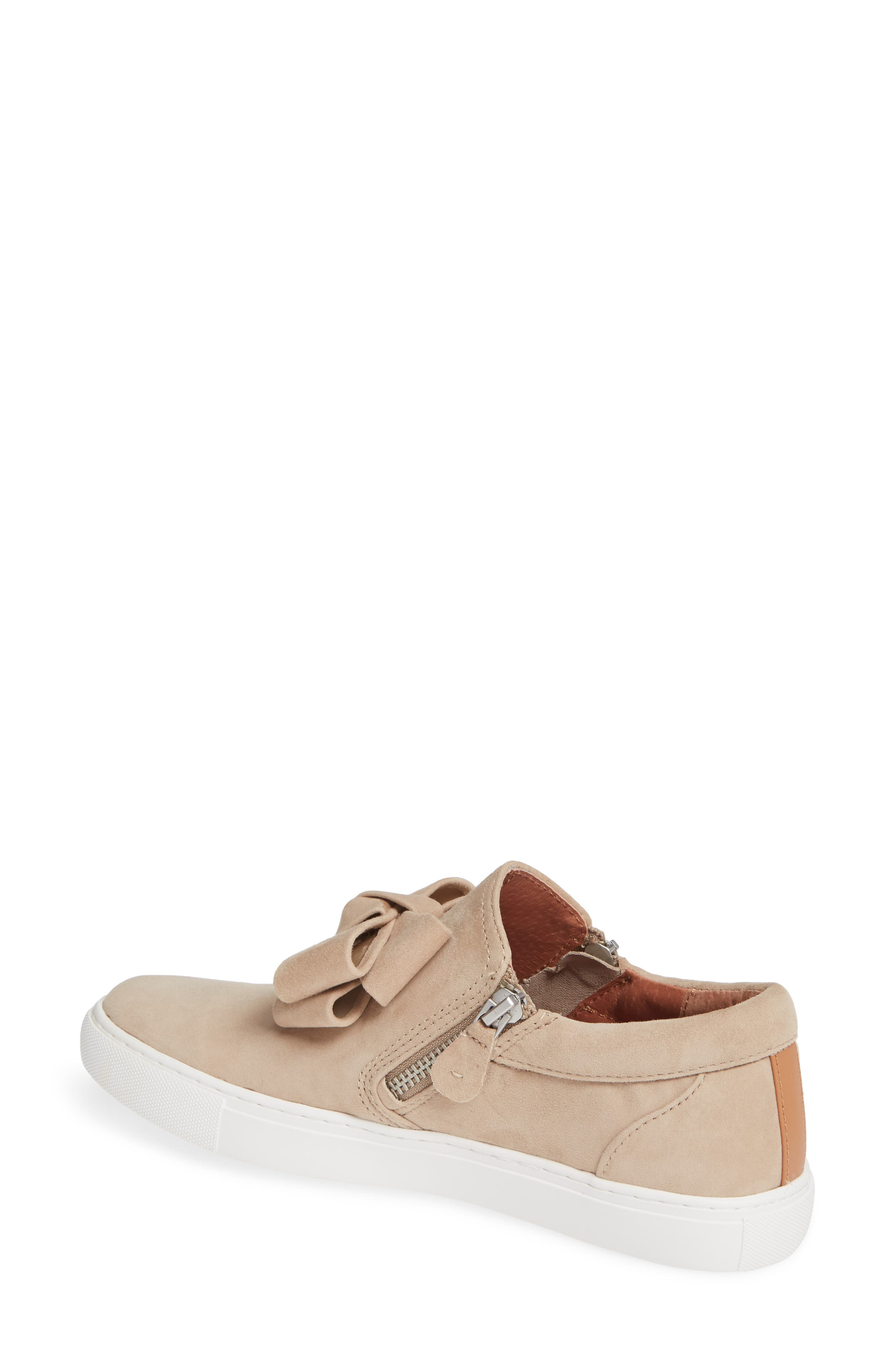 GENTLE SOULS BY KENNETH COLE, Lowe Bow Sneaker, Alternate thumbnail 2, color, CAFE SUEDE