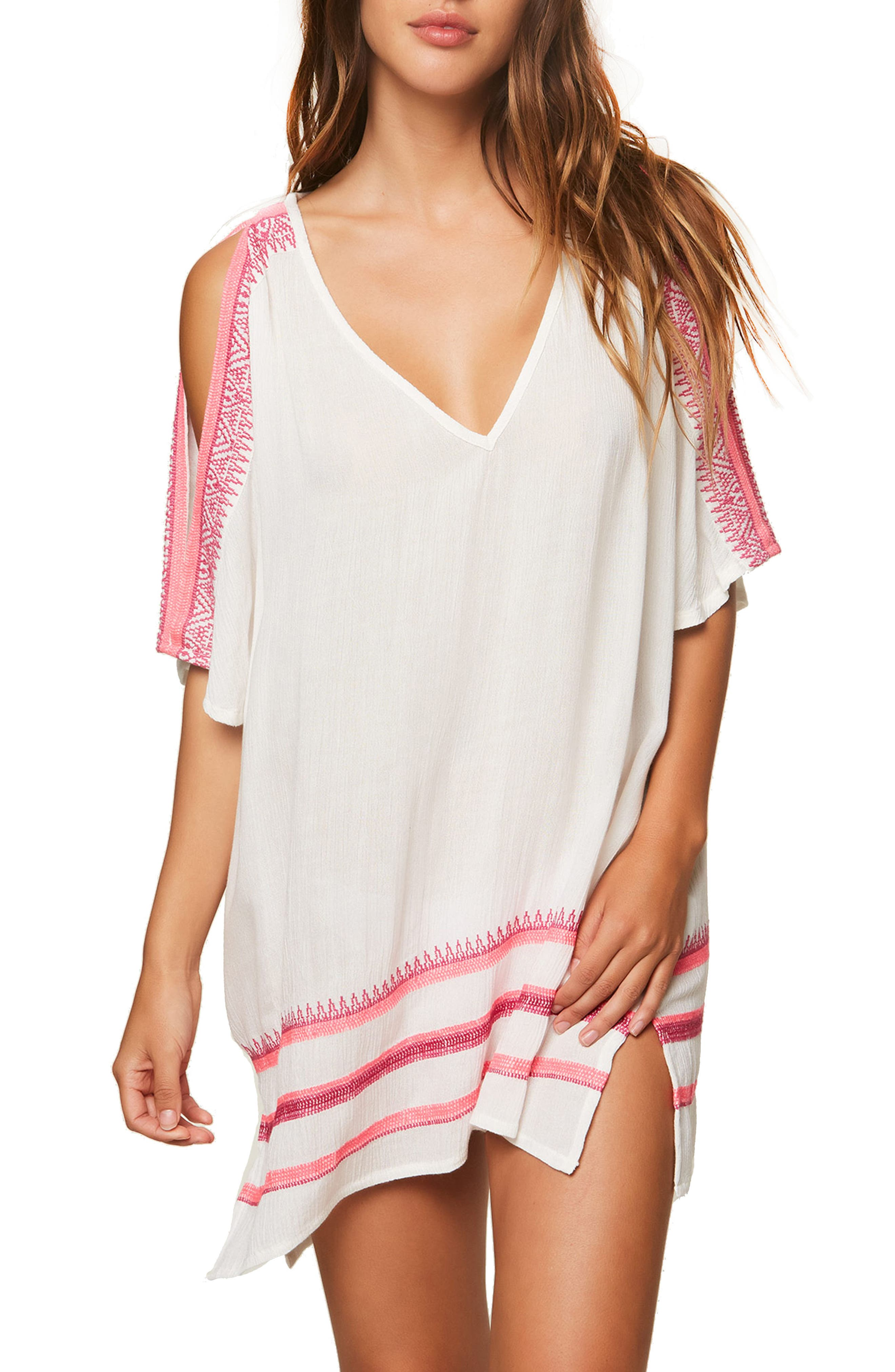 O'NEILL Aurora Cold Shoulder Cover-Up Tunic, Main, color, 121