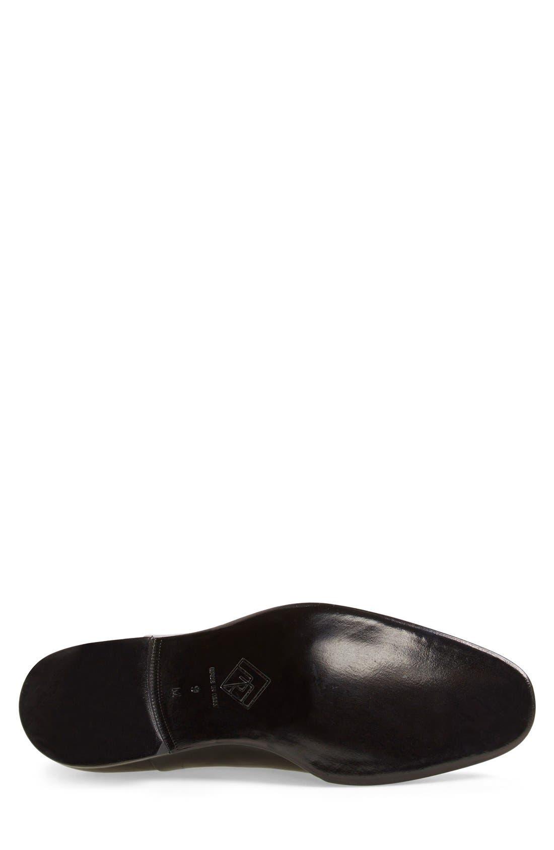 MONTE ROSSO, Lazio Cap-Toe Oxford, Alternate thumbnail 3, color, BLACK