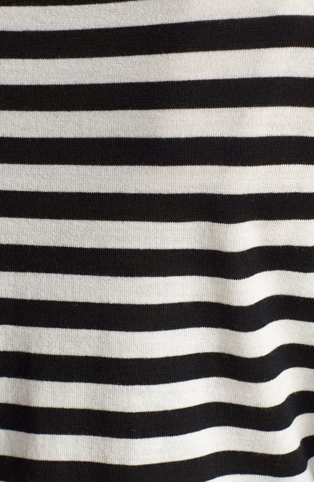 BOSS, Stripe Wool Sweater, Alternate thumbnail 3, color, 006