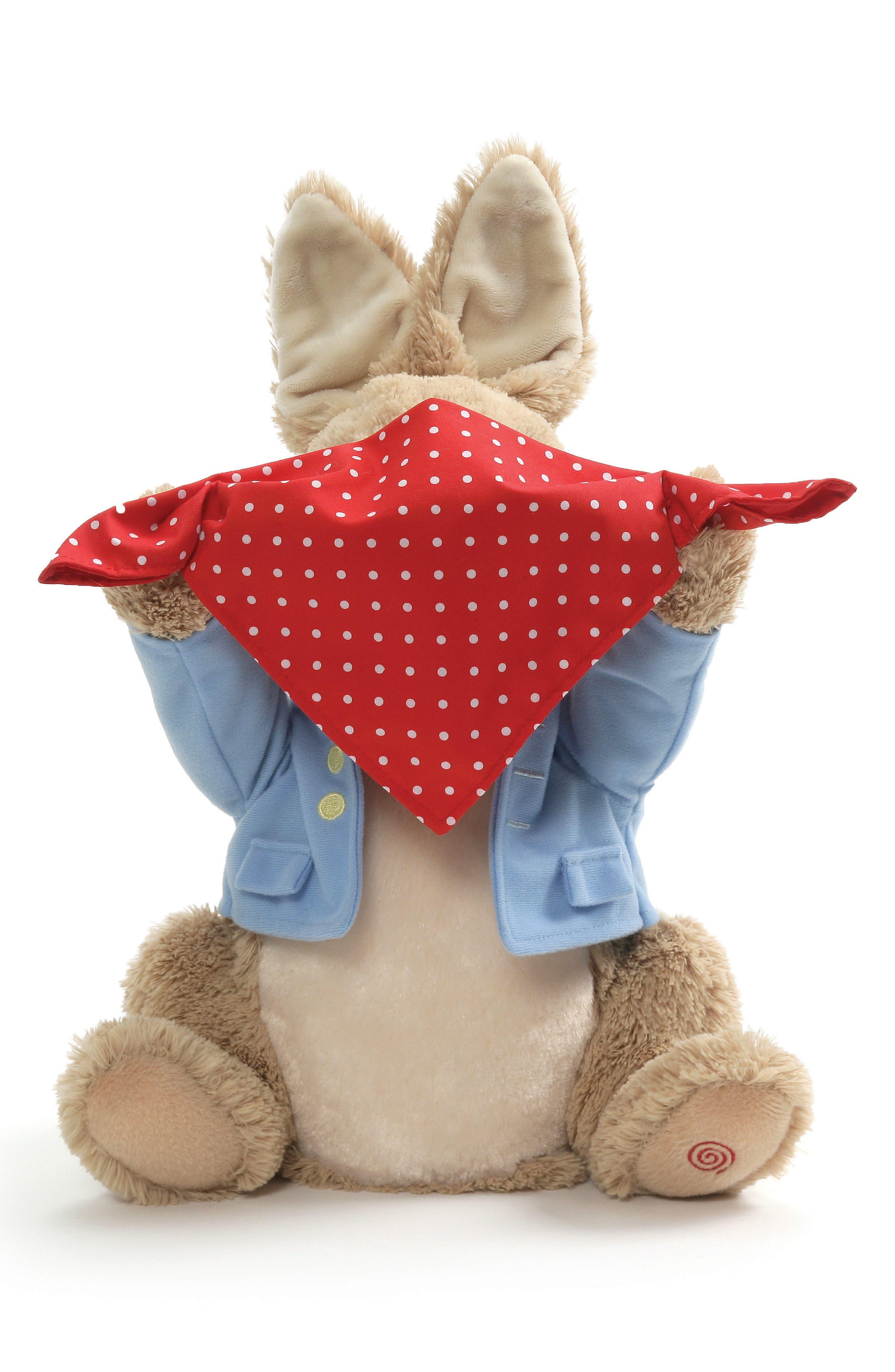 GUND, Peter Rabbit Sound & Action Peekaboo Stuffed Animal, Alternate thumbnail 2, color, TAN