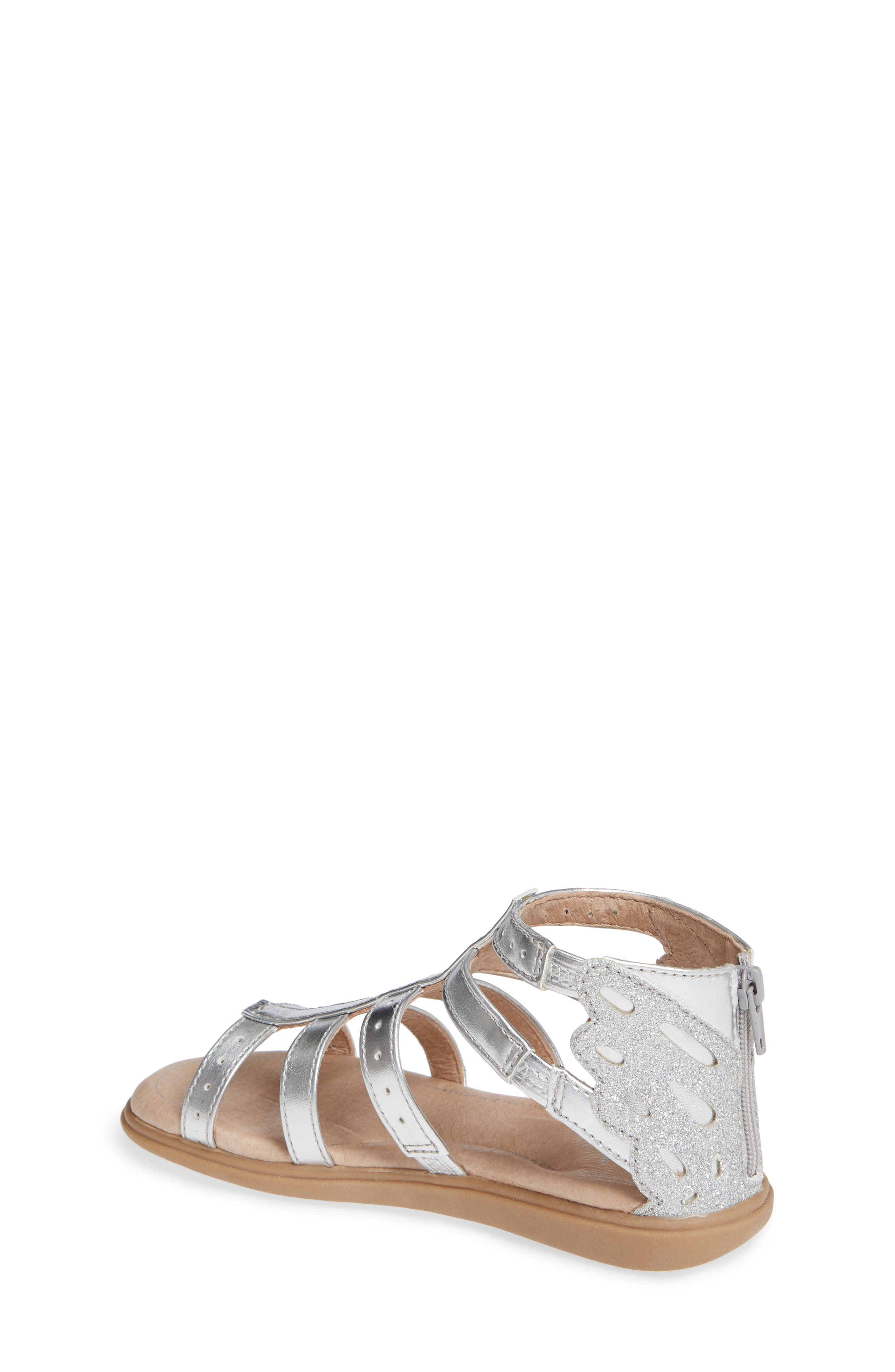 SOLE PLAY, Camille Metallic Sandal, Alternate thumbnail 2, color, SILVER