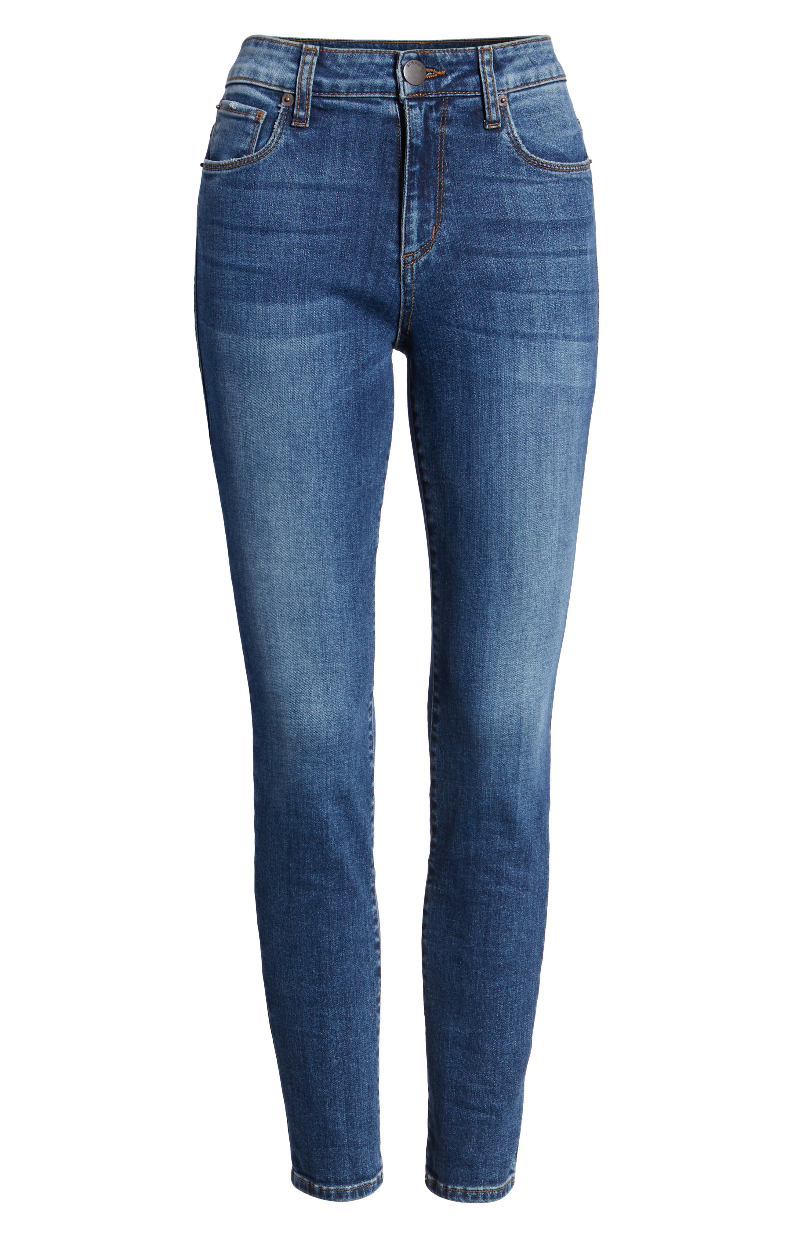 STS BLUE, Emma High Waist Ankle Skinny Jeans, Alternate thumbnail 7, color, MERRYL