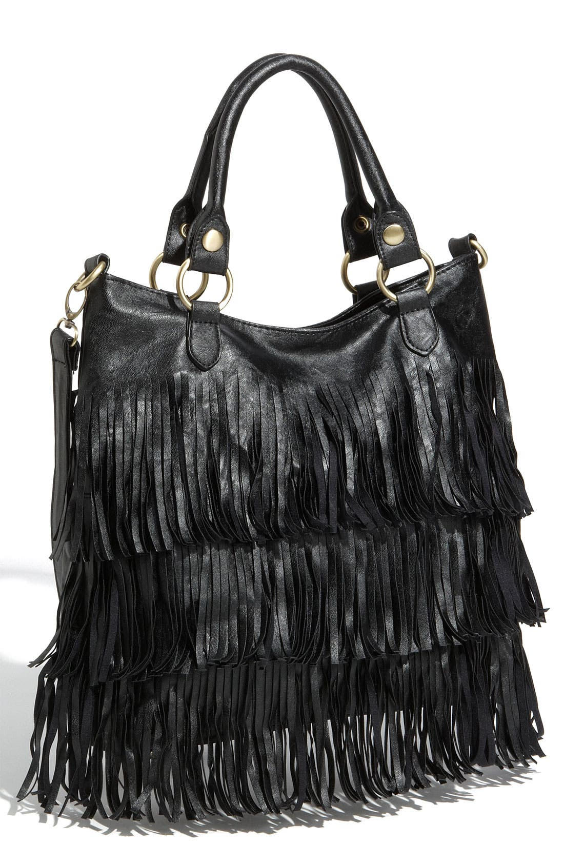 TOP CHOICE Fringed Crossbody Tote, Main, color, 001