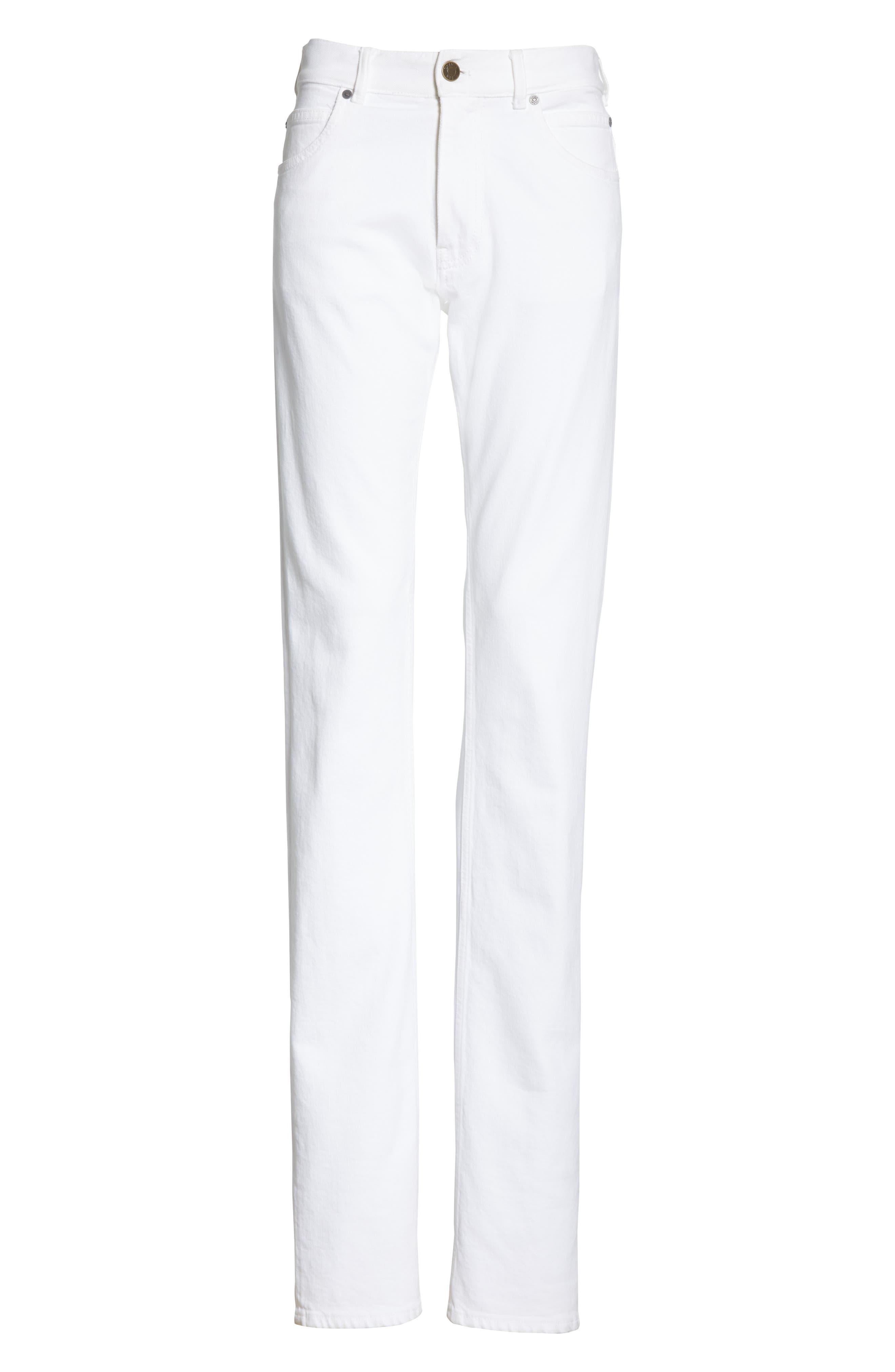 CALVIN KLEIN 205W39NYC, Straight Leg Jeans, Alternate thumbnail 6, color, OPTIC WHITE