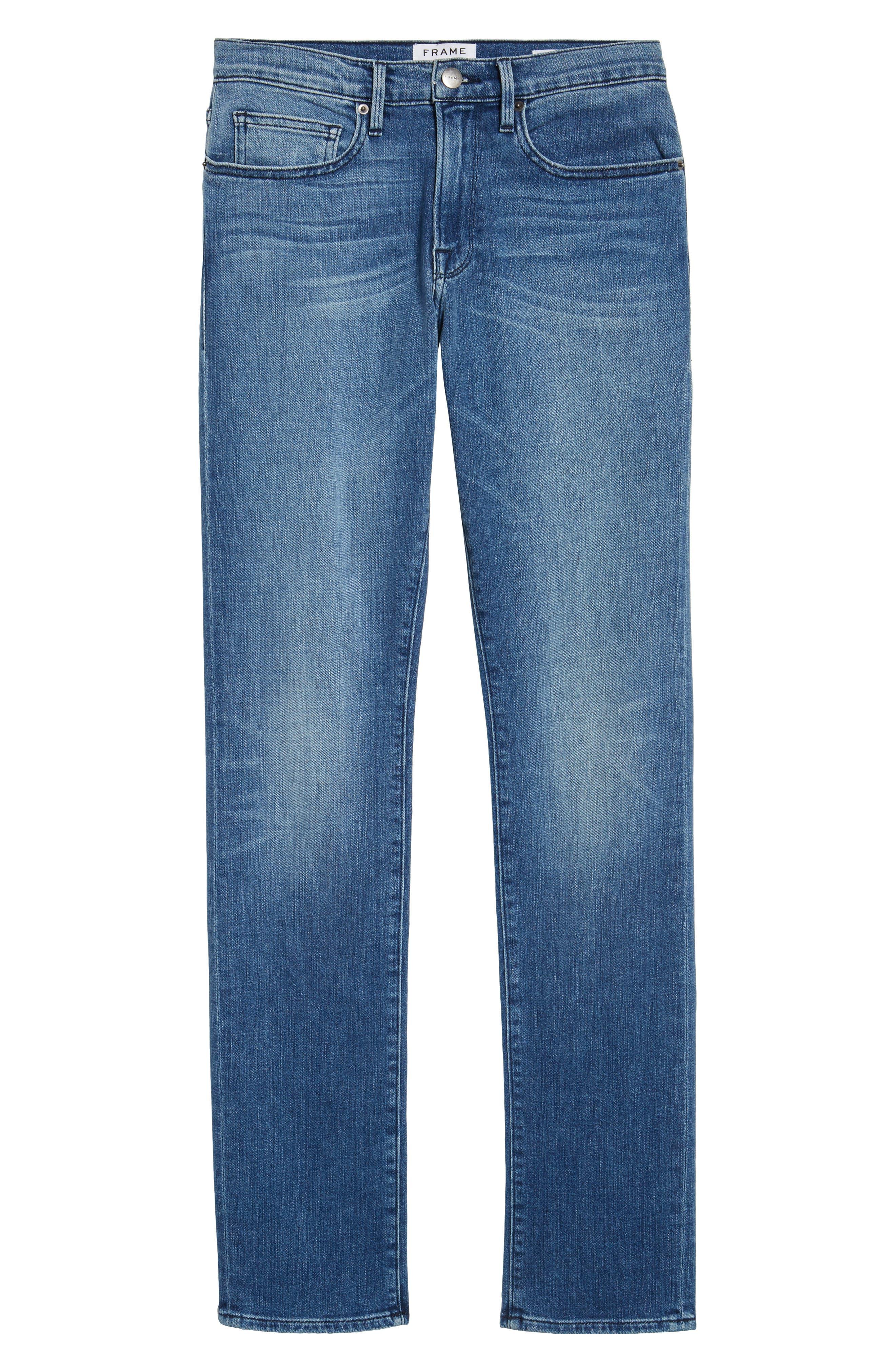 FRAME, L'Homme Slim Fit Jeans, Alternate thumbnail 7, color, BRADBURY