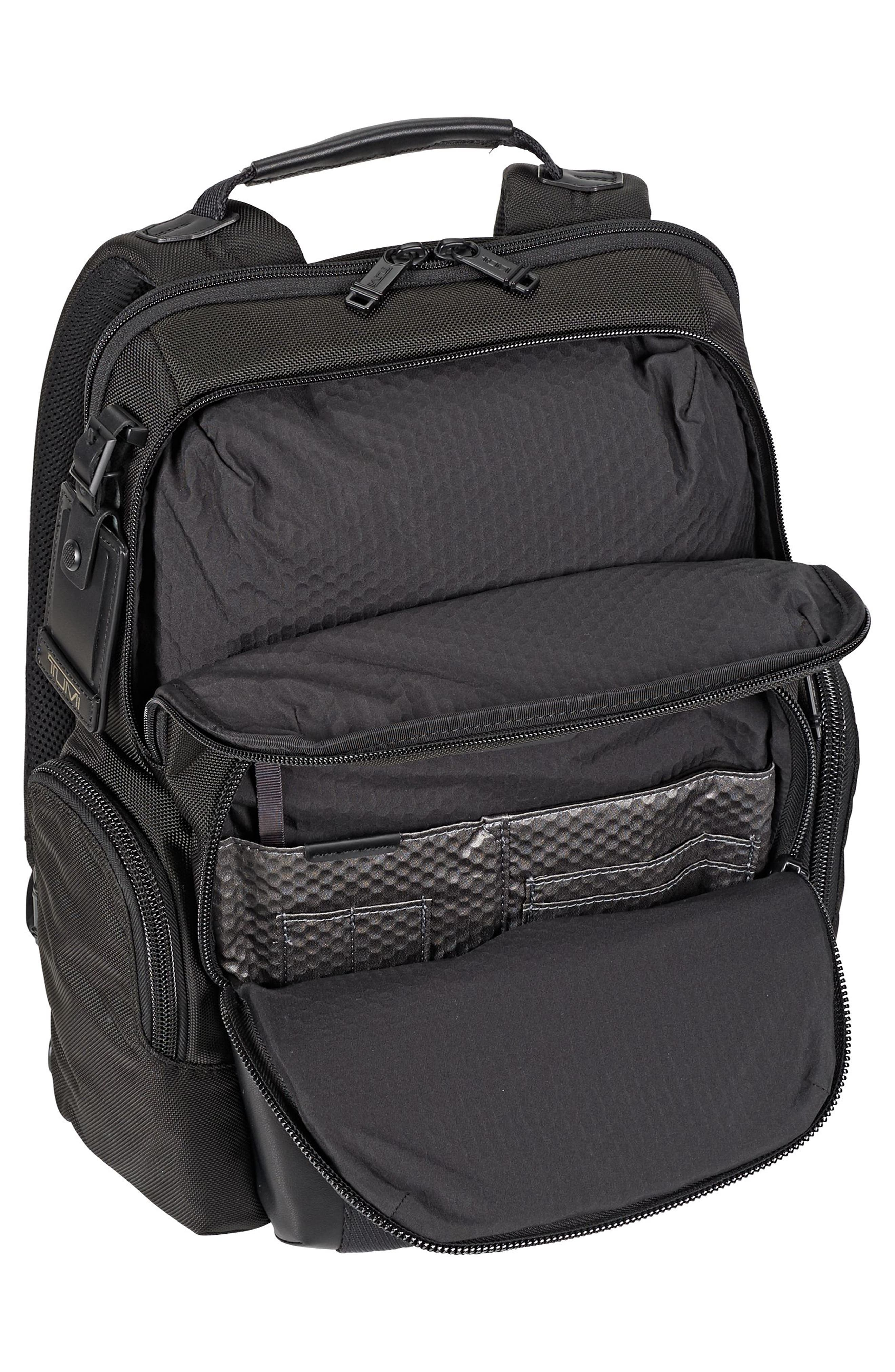 TUMI, Alpha Bravo - Nellis Backpack, Alternate thumbnail 3, color, BLACK
