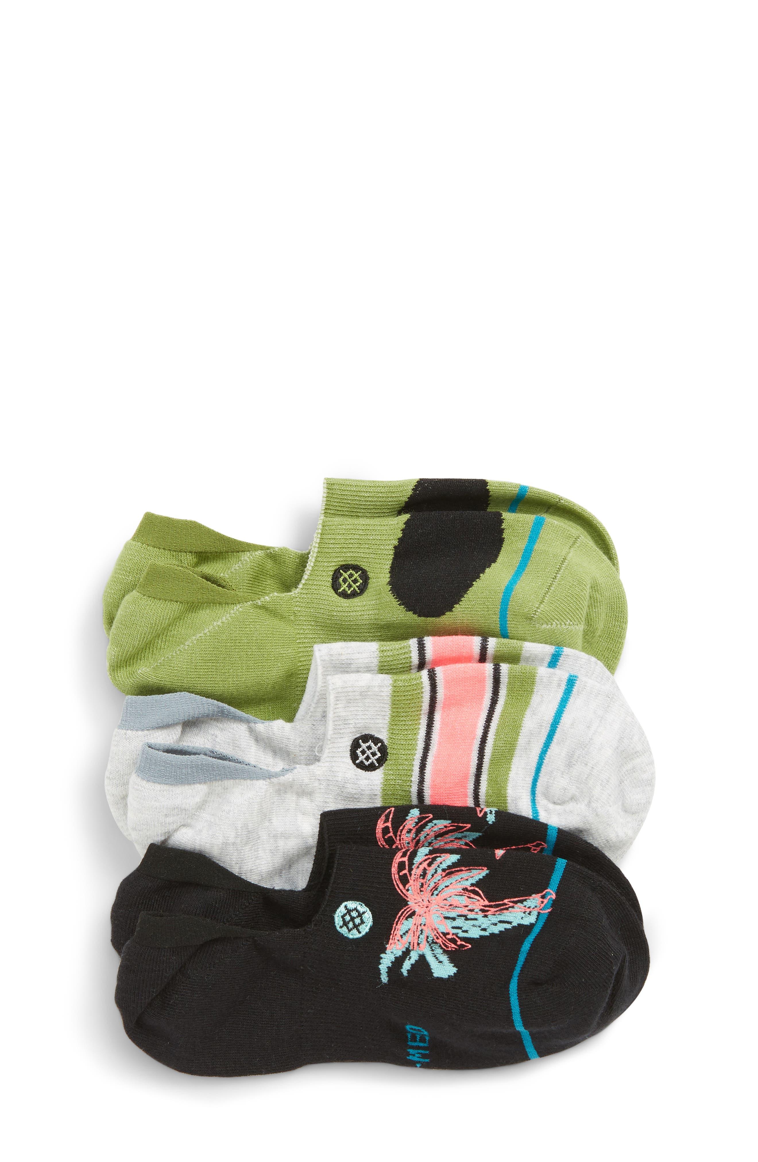 Toddler Stance Notsobasic 3Pack Low Socks Size Medium  Grey