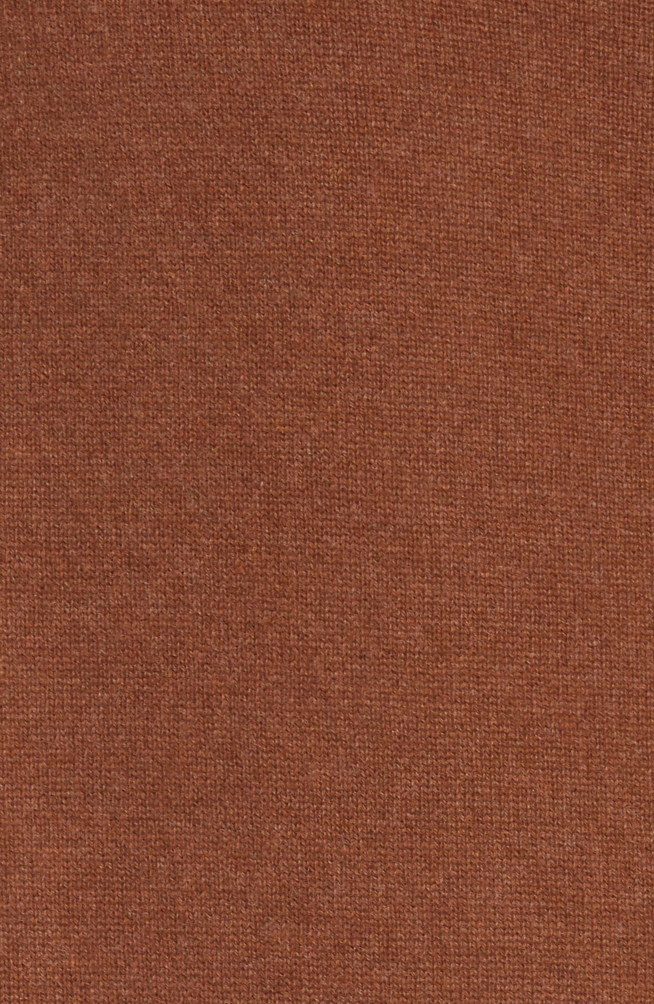 NILI LOTAN, Ralphie Cashmere Turtleneck Sweater, Alternate thumbnail 5, color, COGNAC