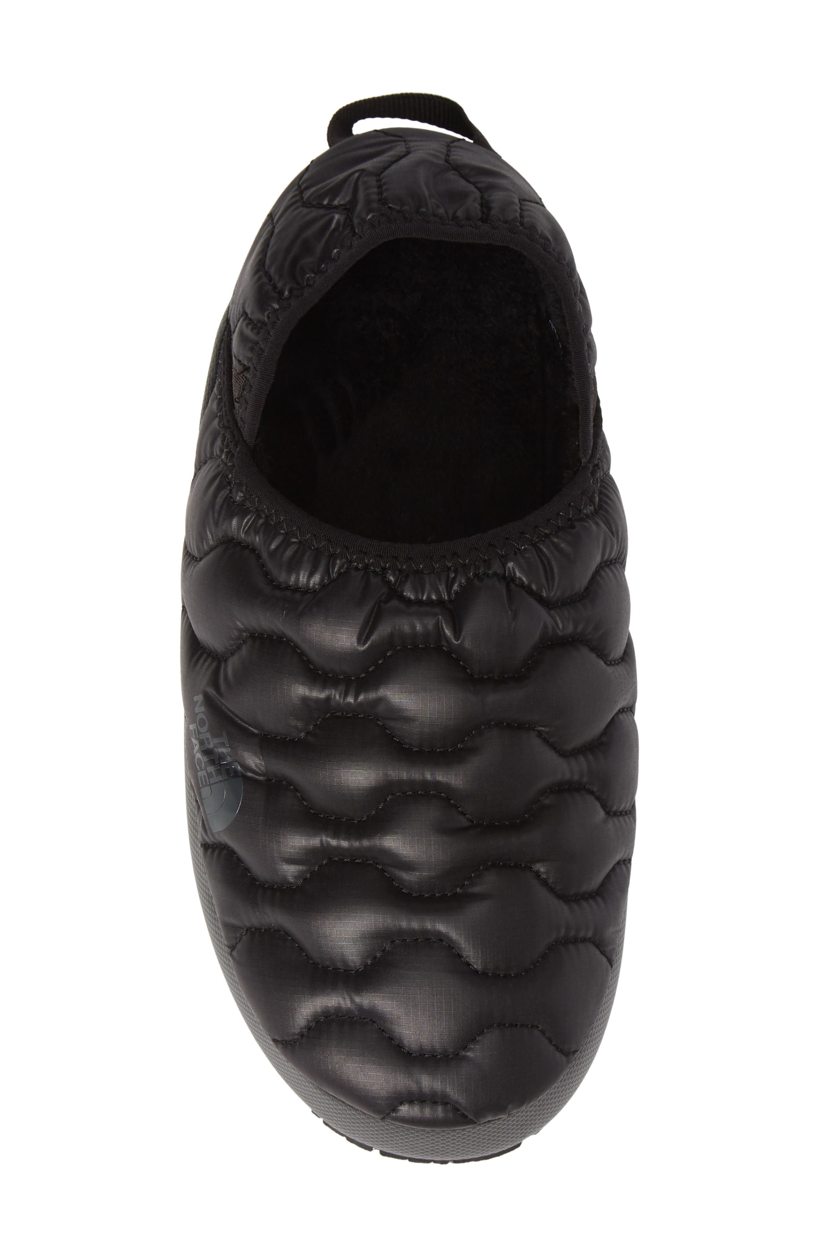 THE NORTH FACE, Thermoball<sup>™</sup> Water Resistant Traction Mule, Alternate thumbnail 5, color, SHINY BLACK/ BELUGA GREY