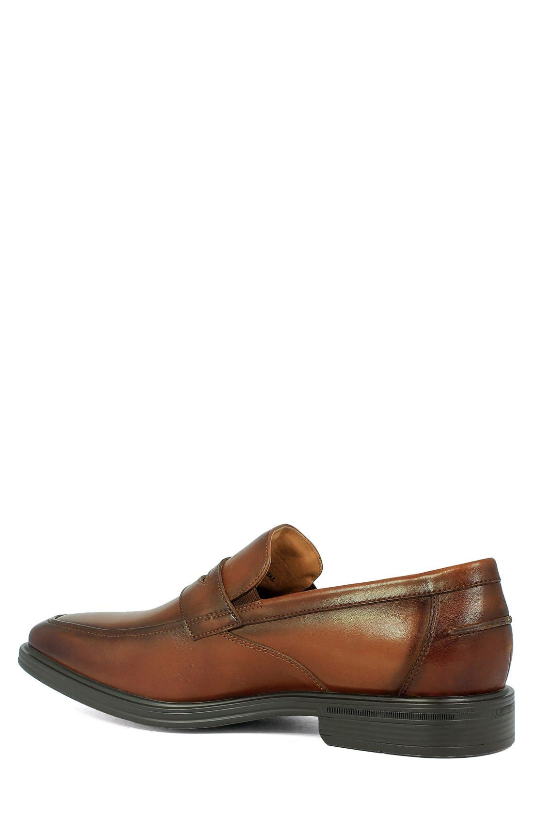 FLORSHEIM, 'Heights' Penny Loafer, Alternate thumbnail 2, color, COGNAC LEATHER