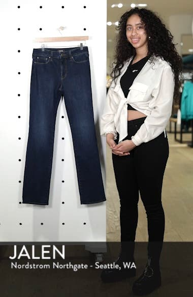 Marilyn High Waist Stretch Straight Leg Jeans, sales video thumbnail