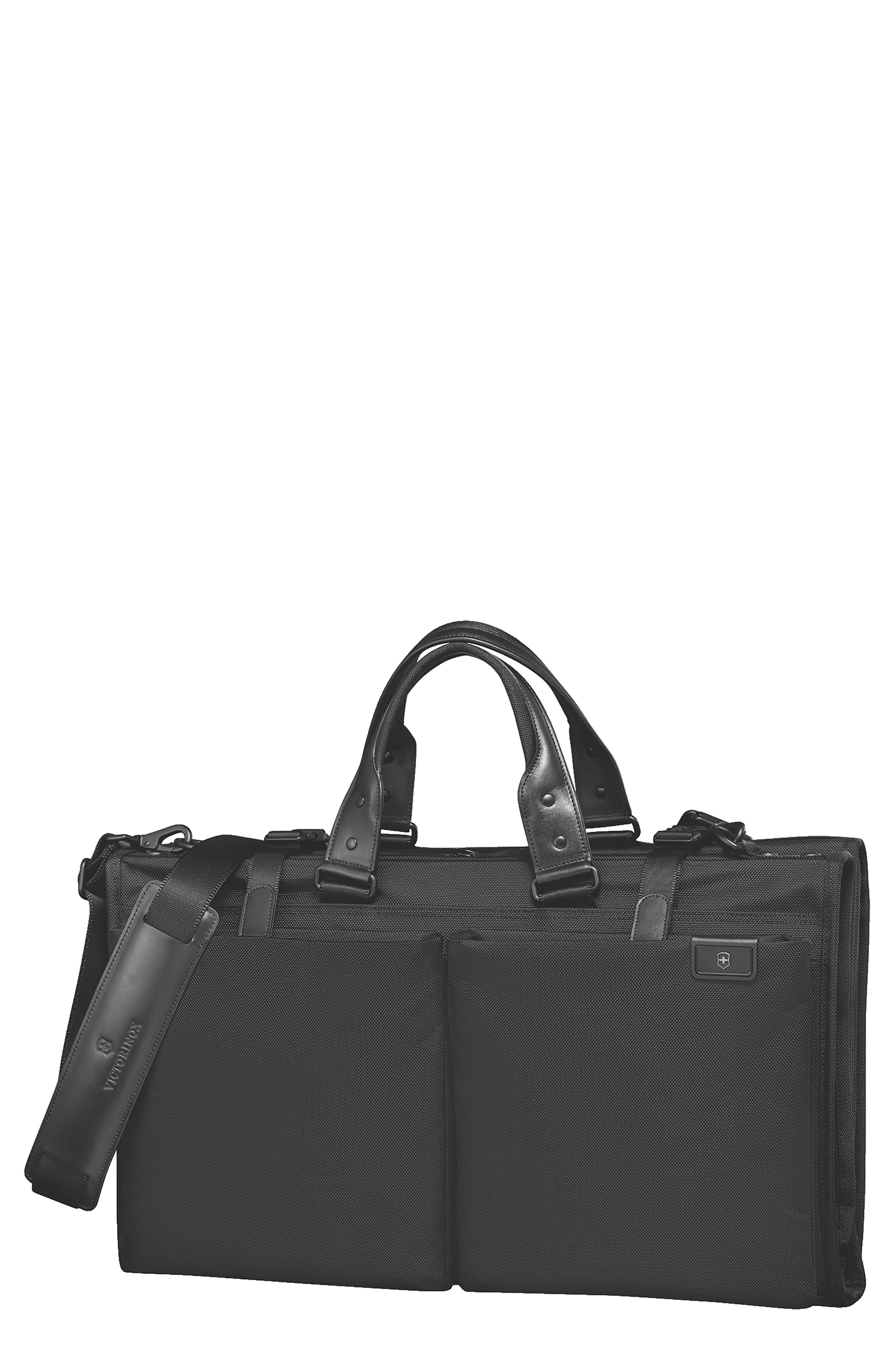 VICTORINOX SWISS ARMY<SUP>®</SUP>, Lexicon 2.0 Trifold Garment Bag, Main thumbnail 1, color, BLACK