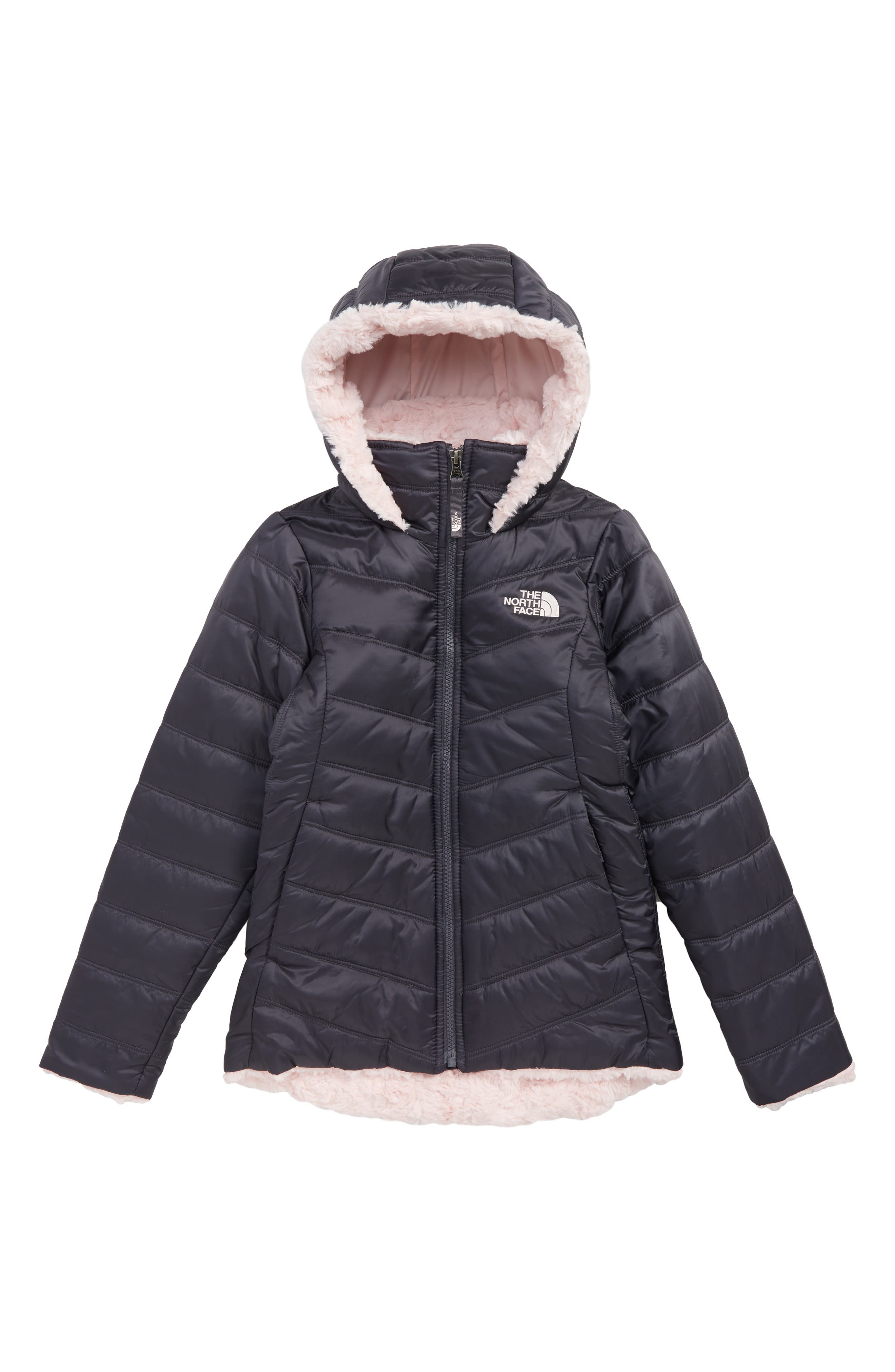 THE NORTH FACE, Mossbud Swirl Reversible Hooded Parka, Main thumbnail 1, color, 021