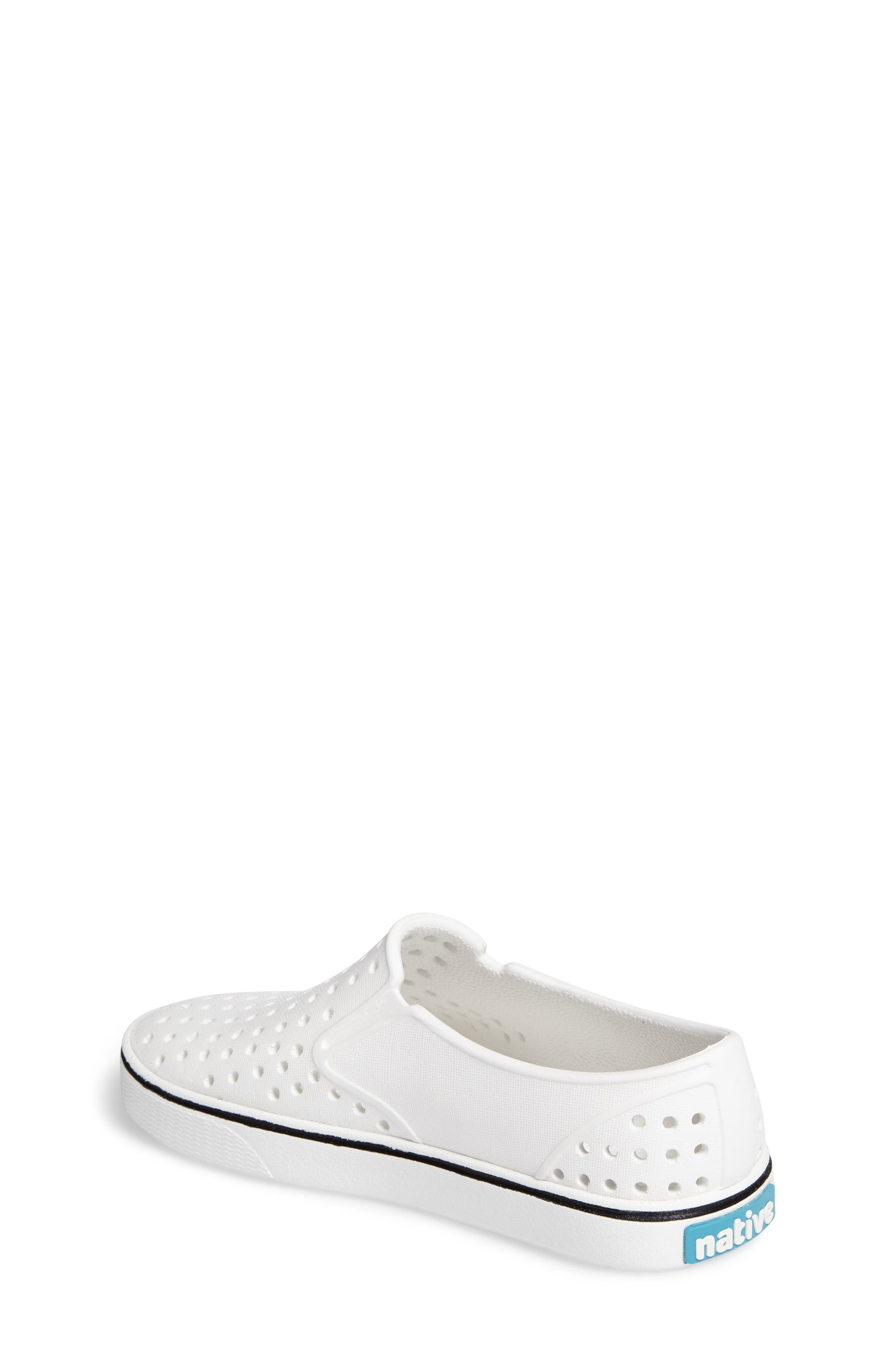 NATIVE SHOES, Miles Water Friendly Slip-On Sneaker, Alternate thumbnail 2, color, SHELL WHITE